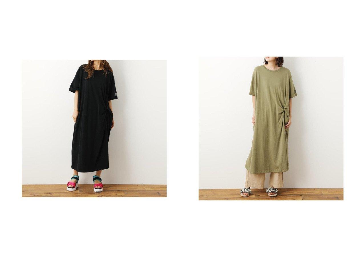 【RODEO CROWNS WIDE BOWL/ロデオクラウンズワイドボウル】のTwistカットTシャツワンピース おすすめ!人気トレンド・レディースファッション通販 おすすめで人気の流行・トレンド、ファッションの通販商品 インテリア・家具・メンズファッション・キッズファッション・レディースファッション・服の通販 founy(ファニー) https://founy.com/ ファッション Fashion レディースファッション WOMEN ワンピース Dress シャツワンピース Shirt Dresses 2021年 2021 2021春夏・S/S SS/Spring/Summer/2021 S/S・春夏 SS・Spring/Summer アシンメトリー ツイスト フロント 夏 Summer 春 Spring  ID:crp329100000053088