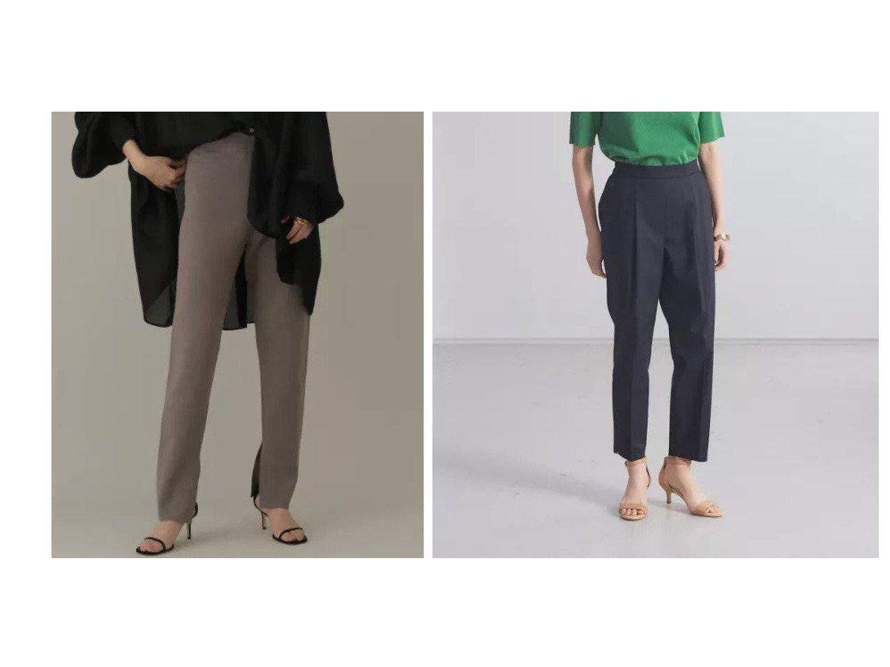 【qualite/カリテ】のサイドスリットテーパードパンツ&【Chaos/カオス】のCRシルクコンミラノスリムPT 【パンツ】おすすめ!人気、トレンド・レディースファッションの通販 おすすめで人気の流行・トレンド、ファッションの通販商品 インテリア・家具・メンズファッション・キッズファッション・レディースファッション・服の通販 founy(ファニー) https://founy.com/ ファッション Fashion レディースファッション WOMEN パンツ Pants おすすめ Recommend キャミソール シルク ストレッチ スリット スリム セットアップ バランス パターン ミラノリブ レギンス 人気 カットソー フラット フロント 定番 Standard |ID:crp329100000053115