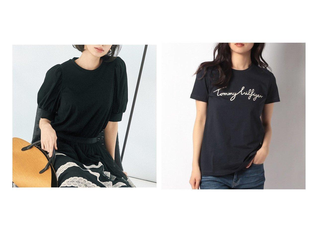 【TOMMY HILFIGER/トミーヒルフィガー】のロゴクルーネックTシャツ&【STRAWBERRY FIELDS/ストロベリーフィールズ】のトルファン天竺 おすすめ!人気トレンド・レディースファッション通販 おすすめで人気の流行・トレンド、ファッションの通販商品 インテリア・家具・メンズファッション・キッズファッション・レディースファッション・服の通販 founy(ファニー) https://founy.com/ ファッション Fashion レディースファッション WOMEN トップス・カットソー Tops/Tshirt シャツ/ブラウス Shirts/Blouses ロング / Tシャツ T-Shirts カットソー Cut and Sewn おすすめ Recommend エレガント ジャケット バランス フェミニン 今季 半袖 NEW・新作・新着・新入荷 New Arrivals なめらか カットソー シンプル スリーブ 無地 |ID:crp329100000053286