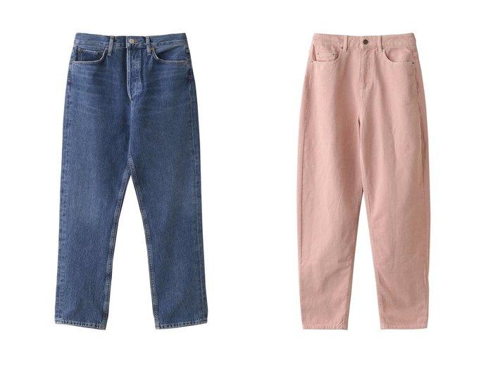 【heliopole/エリオポール】の【AGOLDE】RILEY CROP IN AIR BLUE パンツ&【CHLOE STORA】カラーパンツ 【パンツ】おすすめ!人気、トレンド・レディースファッションの通販 おすすめ人気トレンドファッション通販アイテム 人気、トレンドファッション・服の通販 founy(ファニー) ファッション Fashion レディースファッション WOMEN パンツ Pants ストレート クロップド 今季 定番 Standard |ID:crp329100000053401