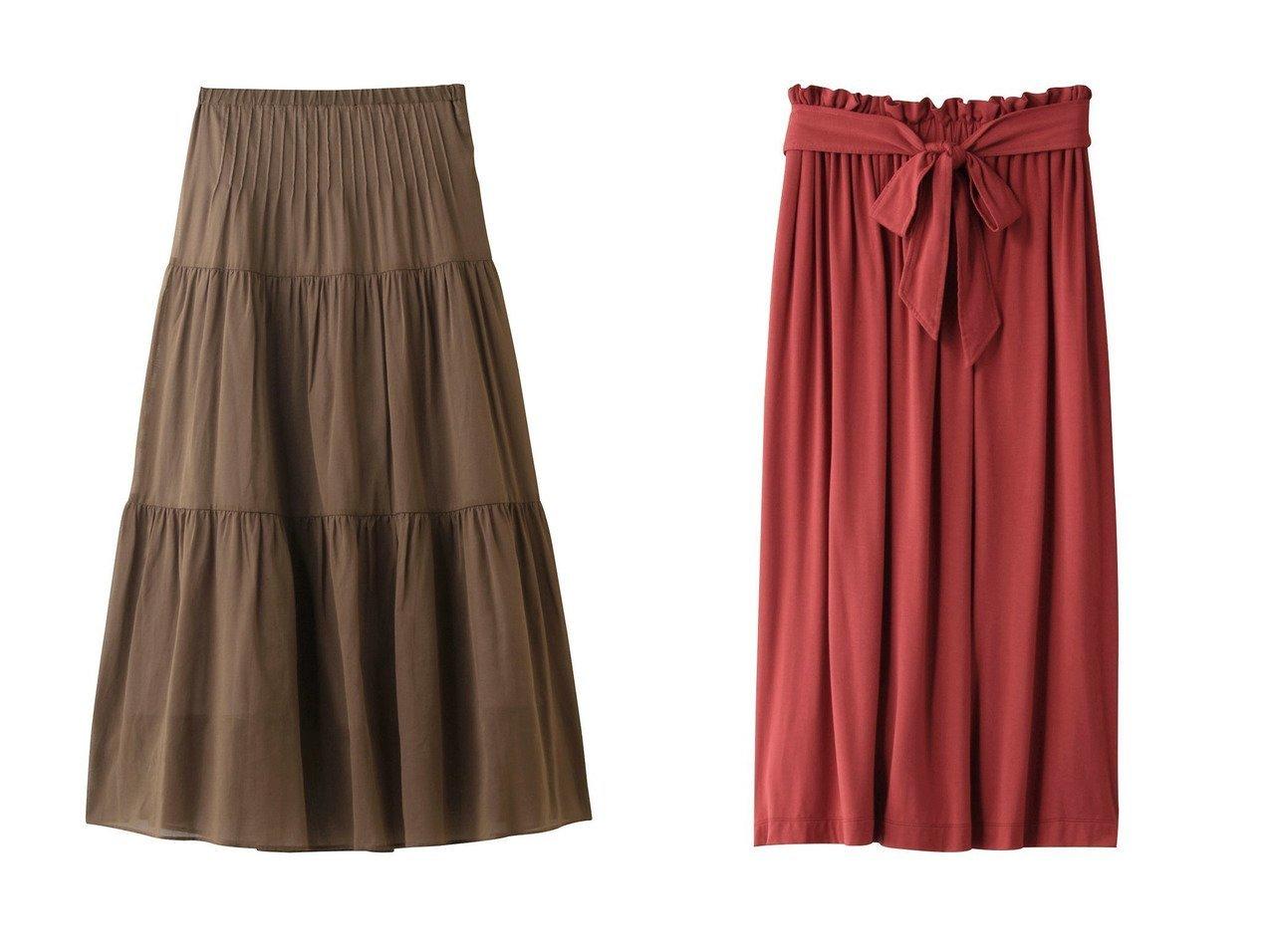 【three dots/スリー ドッツ】のスカート&スカート 【スカート】おすすめ!人気、トレンド・レディースファッションの通販 おすすめで人気の流行・トレンド、ファッションの通販商品 インテリア・家具・メンズファッション・キッズファッション・レディースファッション・服の通販 founy(ファニー) https://founy.com/ ファッション Fashion レディースファッション WOMEN スカート Skirt とろみ ギャザー フレア リボン シアー ティアード |ID:crp329100000053490