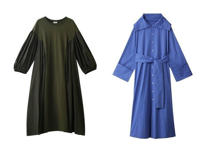 【martinique/マルティニーク】の【CURRENTAGE】SHIRTS CLOTH フロンタブルドレス&【REKISAMI/レキサミ】のサイド切り替えボリュームスリーブワンピース 【ワンピース・ドレス】おすすめ!人気、トレンド・レディースファッションの通販 おすすめ人気トレンドファッション通販アイテム インテリア・キッズ・メンズ・レディースファッション・服の通販 founy(ファニー) https://founy.com/ ファッション Fashion レディースファッション WOMEN トップス・カットソー Tops/Tshirt シャツ/ブラウス Shirts/Blouses ワンピース Dress ドレス Party Dresses 2021年 2021 2021-2022秋冬・A/W AW・Autumn/Winter・FW・Fall-Winter・2021-2022 A/W・秋冬 AW・Autumn/Winter・FW・Fall-Winter スリーブ ハイネック フレア フロント 羽織 フェミニン 人気 |ID:crp329100000053554