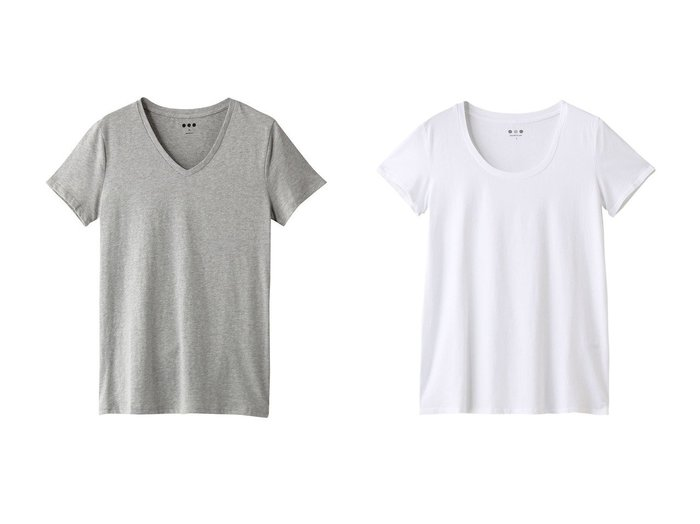 【three dots/スリー ドッツ】のSanded jersey basics v-neck&Sanded jersey basics u-Tシャツ 【トップス・カットソー】おすすめ!人気、トレンド・レディースファッションの通販 おすすめ人気トレンドファッション通販アイテム インテリア・キッズ・メンズ・レディースファッション・服の通販 founy(ファニー) https://founy.com/ ファッション Fashion レディースファッション WOMEN トップス・カットソー Tops/Tshirt Vネック V-Neck シャツ/ブラウス Shirts/Blouses ロング / Tシャツ T-Shirts シンプル 半袖 バランス 定番 Standard  ID:crp329100000053601