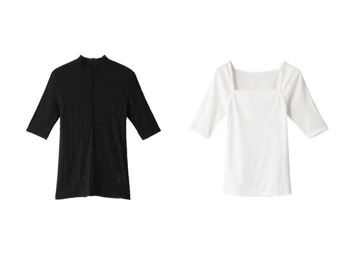 【LE CIEL BLEU/ルシェル ブルー】のストレッチレースT&スクエアネックT 【トップス・カットソー】おすすめ!人気、トレンド・レディースファッションの通販 おすすめ人気トレンドファッション通販アイテム 人気、トレンドファッション・服の通販 founy(ファニー) ファッション Fashion レディースファッション WOMEN 2021年 2021 2021-2022秋冬・A/W AW・Autumn/Winter・FW・Fall-Winter・2021-2022 A/W・秋冬 AW・Autumn/Winter・FW・Fall-Winter スクエア デコルテ ベーシック ストレッチ フィット レース 人気 |ID:crp329100000053606