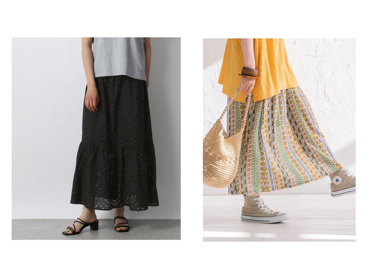 【COEN/コーエン】の麻混ベルト付きプリントスカート&【LOWRYS FARM/ローリーズファーム】のカットワークシシュウスカート 【プチプライス・低価格】おすすめ!人気トレンド・レディースファッション通販 おすすめで人気の流行・トレンド、ファッションの通販商品 インテリア・家具・メンズファッション・キッズファッション・レディースファッション・服の通販 founy(ファニー) https://founy.com/ ファッション Fashion レディースファッション WOMEN スカート Skirt ロングスカート Long Skirt ベルト Belts プリーツスカート Pleated Skirts コンパクト とろみ バランス ビッグ フラワー プリント ペイズリー ボトム ポケット モチーフ ロング 2021年 2021 S/S・春夏 SS・Spring/Summer 2021春夏・S/S SS/Spring/Summer/2021 おすすめ Recommend 夏 Summer カットソー ギャザー ティアードスカート デニム フリル プリーツ ベスト ペチコート |ID:crp329100000053648