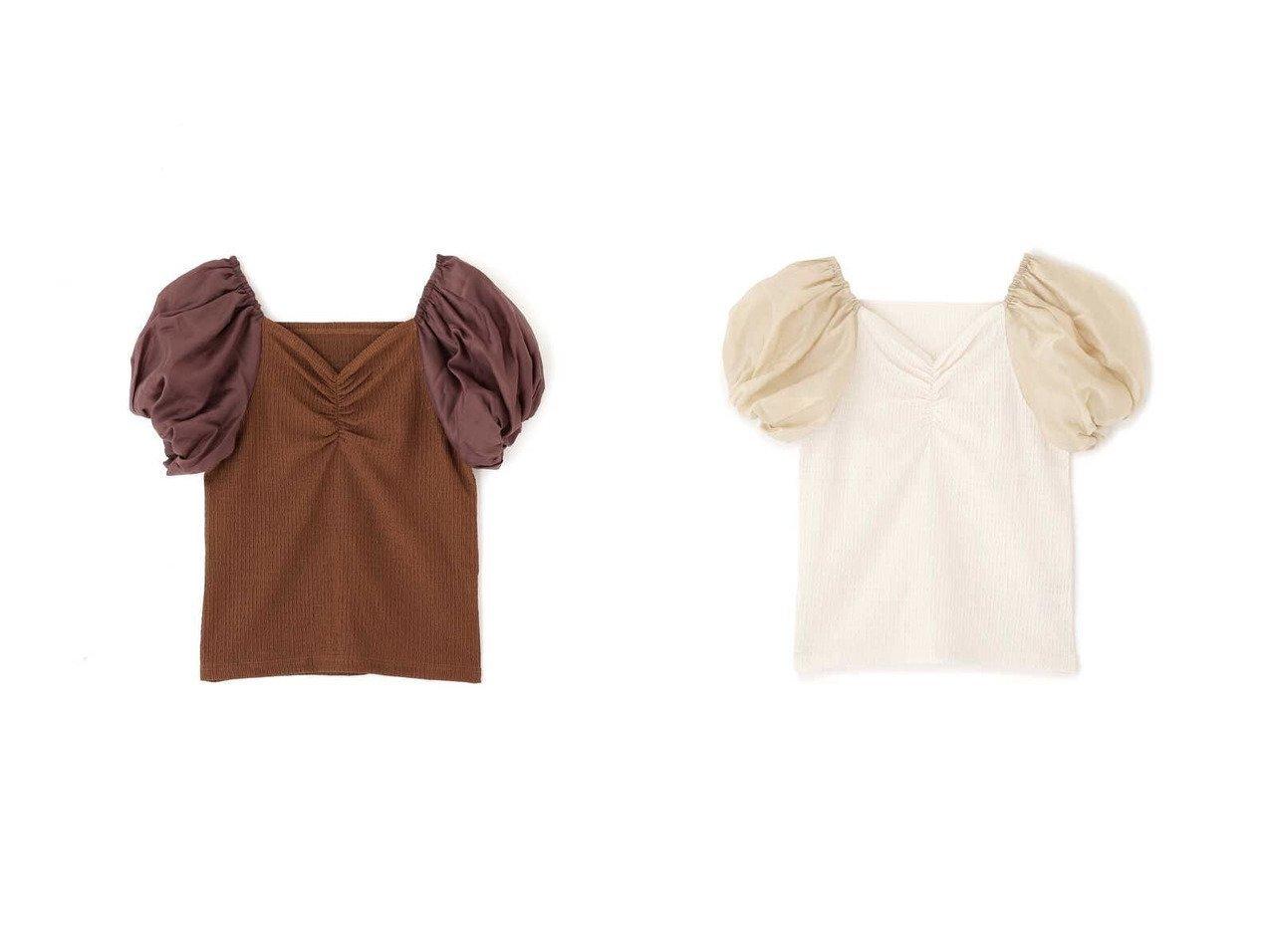 【FREE'S MART/フリーズマート】の前後2Wayパフスリーブ布帛ドッキングカットソー 【プチプライス・低価格】おすすめ!人気トレンド・レディースファッション通販 おすすめで人気の流行・トレンド、ファッションの通販商品 インテリア・家具・メンズファッション・キッズファッション・レディースファッション・服の通販 founy(ファニー) https://founy.com/ ファッション Fashion レディースファッション WOMEN トップス・カットソー Tops/Tshirt カットソー Cut and Sewn カットソー ギャザー コンパクト シアー スクエア スリーブ バランス バルーン フロント ランダム |ID:crp329100000053670