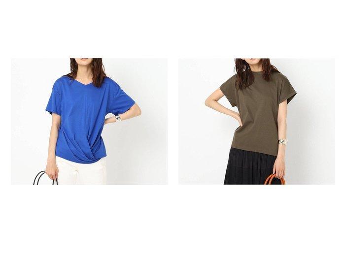 【UNTITLED/アンタイトル】の裾ツイストTシャツ&コットン混フレンチスリーブTシャツ 【トップス・カットソー】おすすめ!人気、トレンド・レディースファッションの通販   おすすめ人気トレンドファッション通販アイテム 人気、トレンドファッション・服の通販 founy(ファニー)  ファッション Fashion レディースファッション WOMEN トップス・カットソー Tops/Tshirt シャツ/ブラウス Shirts/Blouses ロング / Tシャツ T-Shirts 2021年 2021 2021春夏・S/S SS/Spring/Summer/2021 S/S・春夏 SS・Spring/Summer インド コンパクト ツイスト 夏 Summer 春 Spring |ID:crp329100000053754