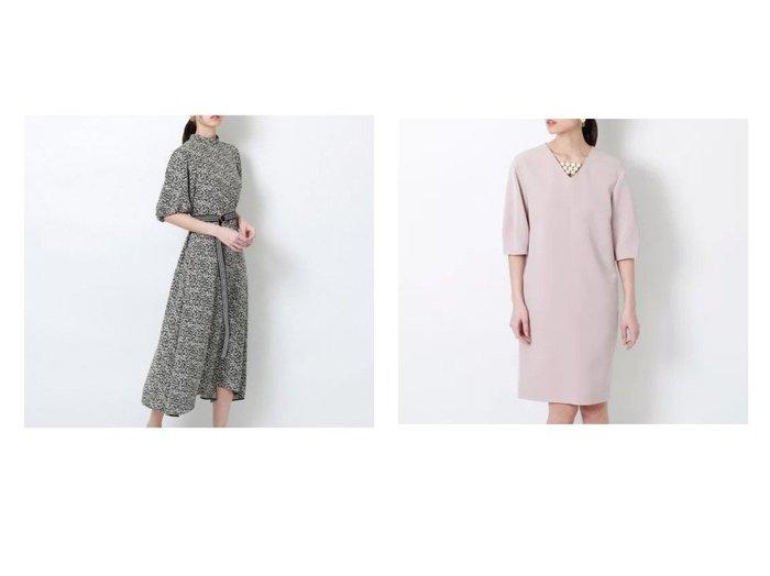 【EPOCA/エポカ】のダブルクロスパールドレス&スモールジャカードドレス 【ワンピース・ドレス】おすすめ!人気、トレンド・レディースファッションの通販 おすすめ人気トレンドファッション通販アイテム 人気、トレンドファッション・服の通販 founy(ファニー)  ファッション Fashion レディースファッション WOMEN ワンピース Dress ドレス Party Dresses ジャカード ドレス ドレープ バランス フォーマル フレア ボーダー パール |ID:crp329100000053771