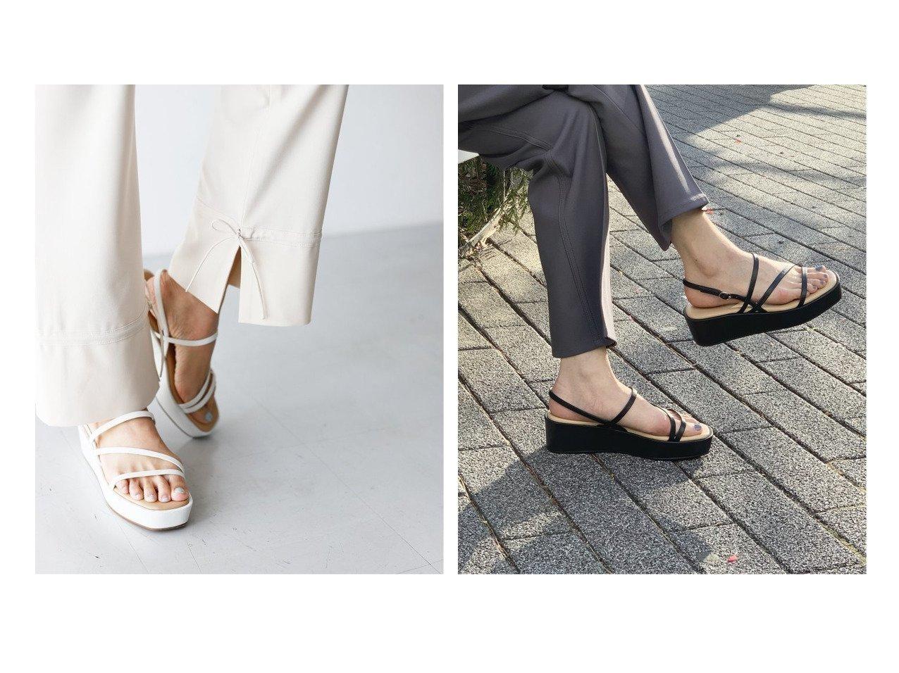【SLOBE IENA/スローブ イエナ】のSLOBE IENA プラットフォームサンダル 【シューズ・靴】おすすめ!人気、トレンド・レディースファッションの通販  おすすめで人気の流行・トレンド、ファッションの通販商品 インテリア・家具・メンズファッション・キッズファッション・レディースファッション・服の通販 founy(ファニー) https://founy.com/ ファッション Fashion レディースファッション WOMEN 2021年 2021 2021春夏・S/S SS/Spring/Summer/2021 S/S・春夏 SS・Spring/Summer インソール クッション サンダル シューズ トレンド フェミニン ラップ |ID:crp329100000053896