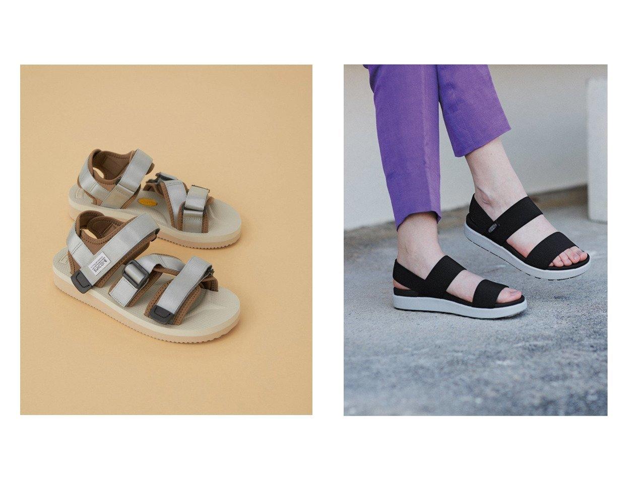 【KEEN/キーン】の(WOMEN)ELLE BACKSTRAP&【ADAM ET ROPE'/アダム エ ロペ】の【SUICOKE】KISEE-V 【シューズ・靴】おすすめ!人気、トレンド・レディースファッションの通販  おすすめで人気の流行・トレンド、ファッションの通販商品 インテリア・家具・メンズファッション・キッズファッション・レディースファッション・服の通販 founy(ファニー) https://founy.com/ ファッション Fashion レディースファッション WOMEN クッション サンダル シューズ シンプル フィット ミュール 軽量 アウトドア シルバー スポーツ |ID:crp329100000053906