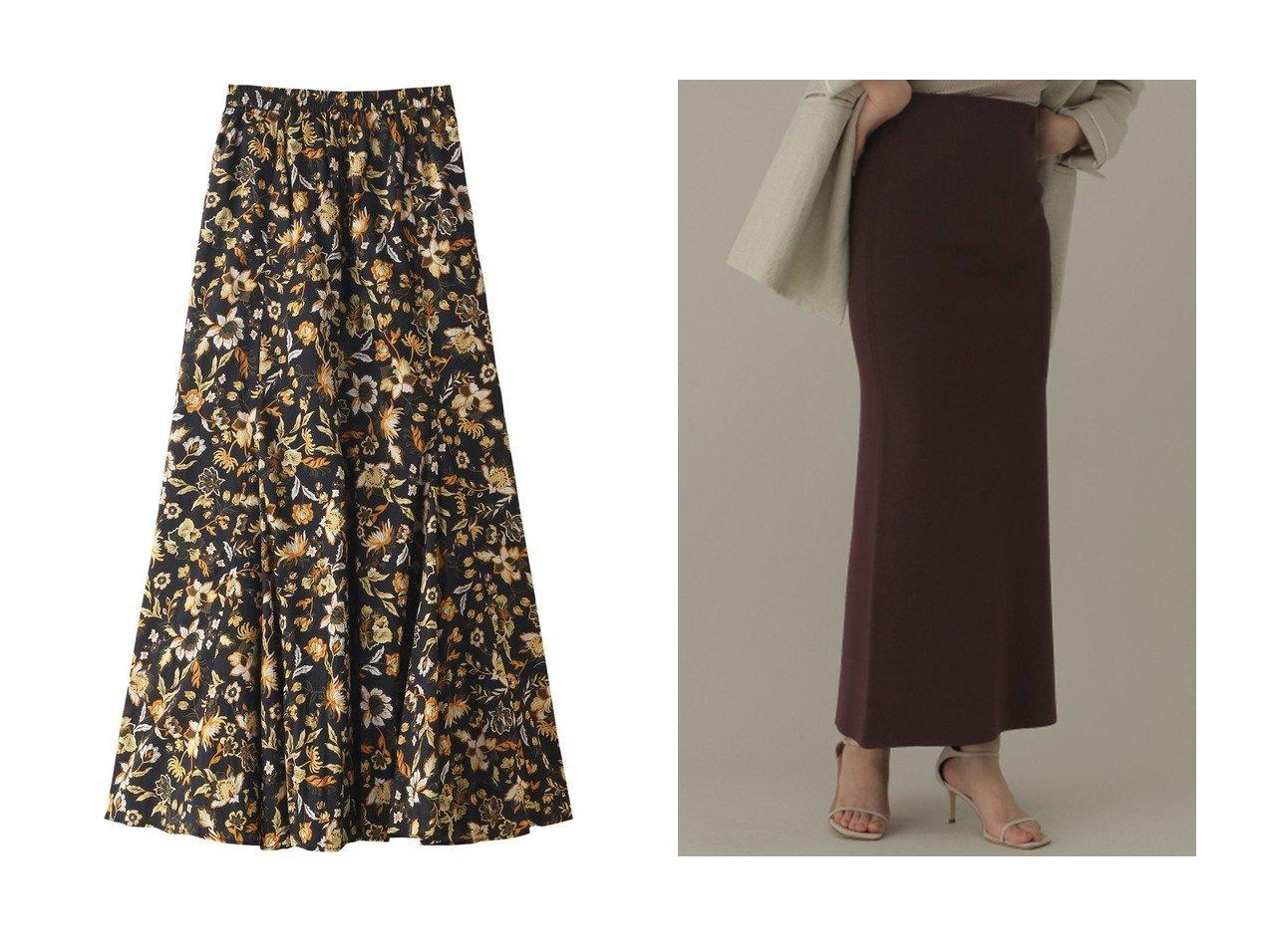 【Chaos/カオス】のシルクコンミラノリブロングタイトスカート&【1er Arrondissement/プルミエ アロンディスモン】の【MARIHA】夢見るマーメイドのスカート 【スカート】おすすめ!人気、トレンド・レディースファッションの通販 おすすめで人気の流行・トレンド、ファッションの通販商品 インテリア・家具・メンズファッション・キッズファッション・レディースファッション・服の通販 founy(ファニー) https://founy.com/ ファッション Fashion レディースファッション WOMEN スカート Skirt フィット フラワー プリント マーメイド 夏 Summer |ID:crp329100000054047