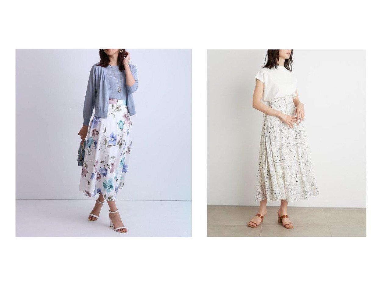 【JUSGLITTY/ジャスグリッティー】のシャドウフラワープリントスカート&【SNIDEL/スナイデル】のリボンジャガードプリントスカート 【スカート】おすすめ!人気、トレンド・レディースファッションの通販 おすすめで人気の流行・トレンド、ファッションの通販商品 インテリア・家具・メンズファッション・キッズファッション・レディースファッション・服の通販 founy(ファニー) https://founy.com/ ファッション Fashion レディースファッション WOMEN スカート Skirt Aライン/フレアスカート Flared A-Line Skirts エレガント ギャザー フラワー フレア プリント ミモレ エアリー サマー シアー シャーリング スマート ドット ランダム 再入荷 Restock/Back in Stock/Re Arrival |ID:crp329100000054049
