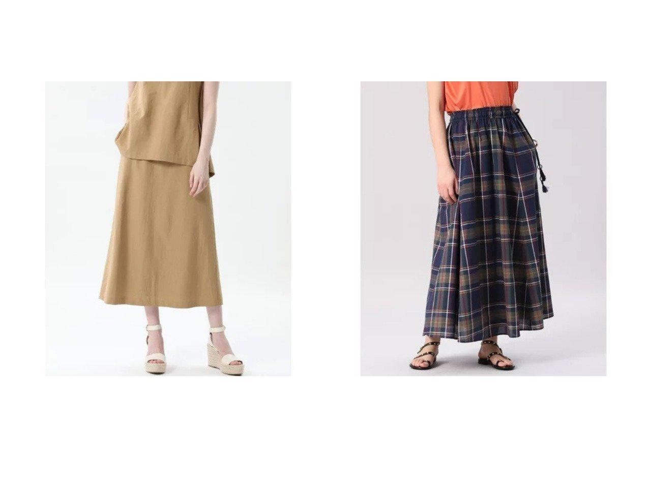 【INED/イネド】の《Maison de Beige》コットンチェックロングスカート&【ef-de/エフデ】の《Maglie par ef-de》セミフレアスカート 【スカート】おすすめ!人気、トレンド・レディースファッションの通販 おすすめで人気の流行・トレンド、ファッションの通販商品 インテリア・家具・メンズファッション・キッズファッション・レディースファッション・服の通販 founy(ファニー) https://founy.com/ ファッション Fashion レディースファッション WOMEN スカート Skirt Aライン/フレアスカート Flared A-Line Skirts ロングスカート Long Skirt おすすめ Recommend エレガント カットソー サマー シンプル セットアップ ビンテージ ミックス リラックス ロング |ID:crp329100000054054