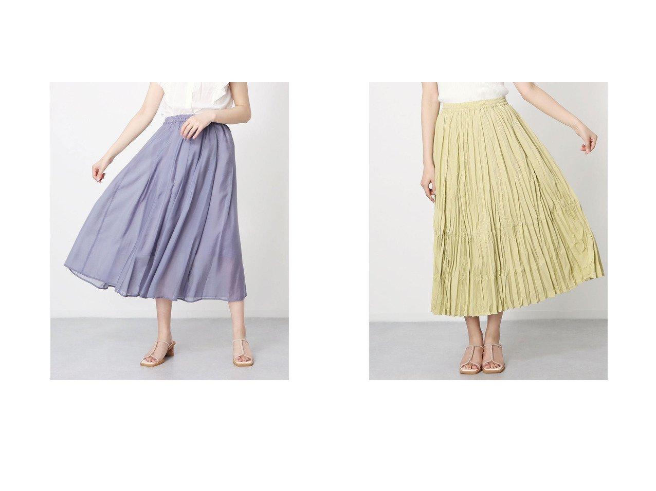 【Rewde/ルゥデ】のタックフレアスカート&ワッシャープリーツスカート 【スカート】おすすめ!人気、トレンド・レディースファッションの通販 おすすめで人気の流行・トレンド、ファッションの通販商品 インテリア・家具・メンズファッション・キッズファッション・レディースファッション・服の通販 founy(ファニー) https://founy.com/ ファッション Fashion レディースファッション WOMEN スカート Skirt Aライン/フレアスカート Flared A-Line Skirts プリーツスカート Pleated Skirts 2021年 2021 2021春夏・S/S SS/Spring/Summer/2021 S/S・春夏 SS・Spring/Summer シアー フィット フレア 夏 Summer 春 Spring ギャザー ダブル プリーツ 定番 Standard 楽ちん |ID:crp329100000054055