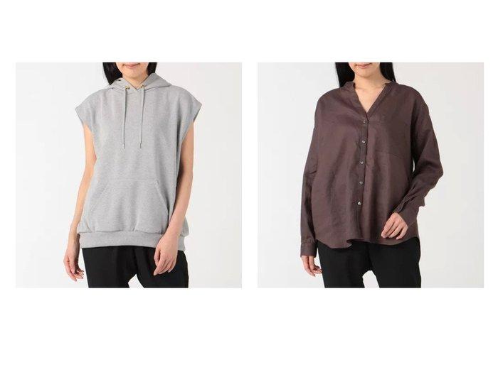 【Munich/ミューニック】のs hoodie&40s french linen canvas shirt outer 【アウター】おすすめ!人気、トレンド・レディースファッションの通販 おすすめ人気トレンドファッション通販アイテム 人気、トレンドファッション・服の通販 founy(ファニー) ファッション Fashion レディースファッション WOMEN アウター Coat Outerwear トップス・カットソー Tops/Tshirt シャツ/ブラウス Shirts/Blouses ベスト/ジレ Gilets/Vests ウォッシュ リネン ロング ヴィンテージ 吸水 洗える 長袖 スリーブ バランス フォルム フレンチ ベスト |ID:crp329100000054078