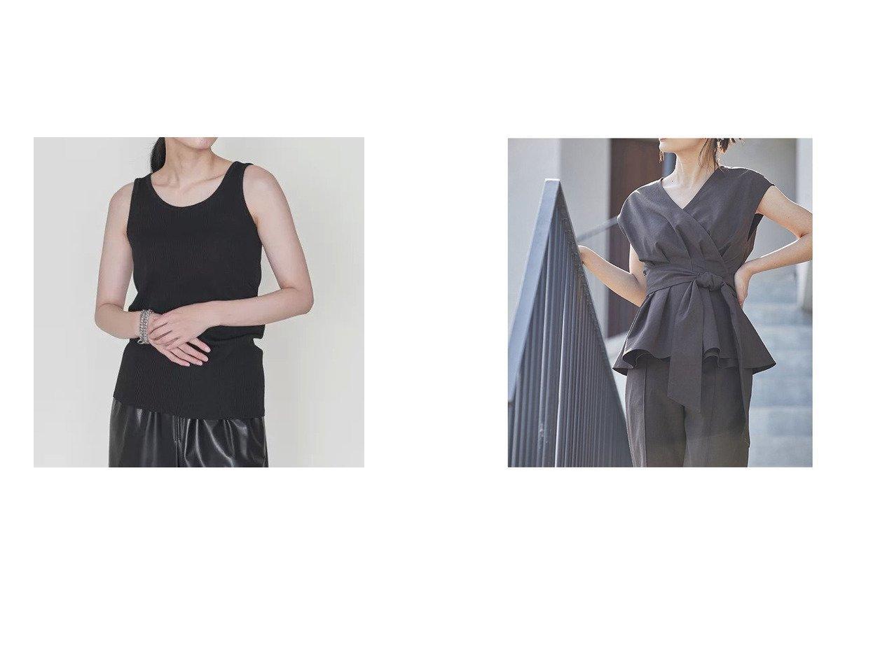 【anuans/アニュアンス】のリネン混カシュクールブラウス&【ASTRAET/アストラット】のバックシーム タンクトップ 【トップス・カットソー】おすすめ!人気、トレンド・レディースファッションの通販 おすすめで人気の流行・トレンド、ファッションの通販商品 インテリア・家具・メンズファッション・キッズファッション・レディースファッション・服の通販 founy(ファニー) https://founy.com/ ファッション Fashion レディースファッション WOMEN トップス・カットソー Tops/Tshirt シャツ/ブラウス Shirts/Blouses ロング / Tシャツ T-Shirts カットソー Cut and Sewn カットソー シンプル タンク おすすめ Recommend セットアップ ペプラム リネン リボン  ID:crp329100000054115