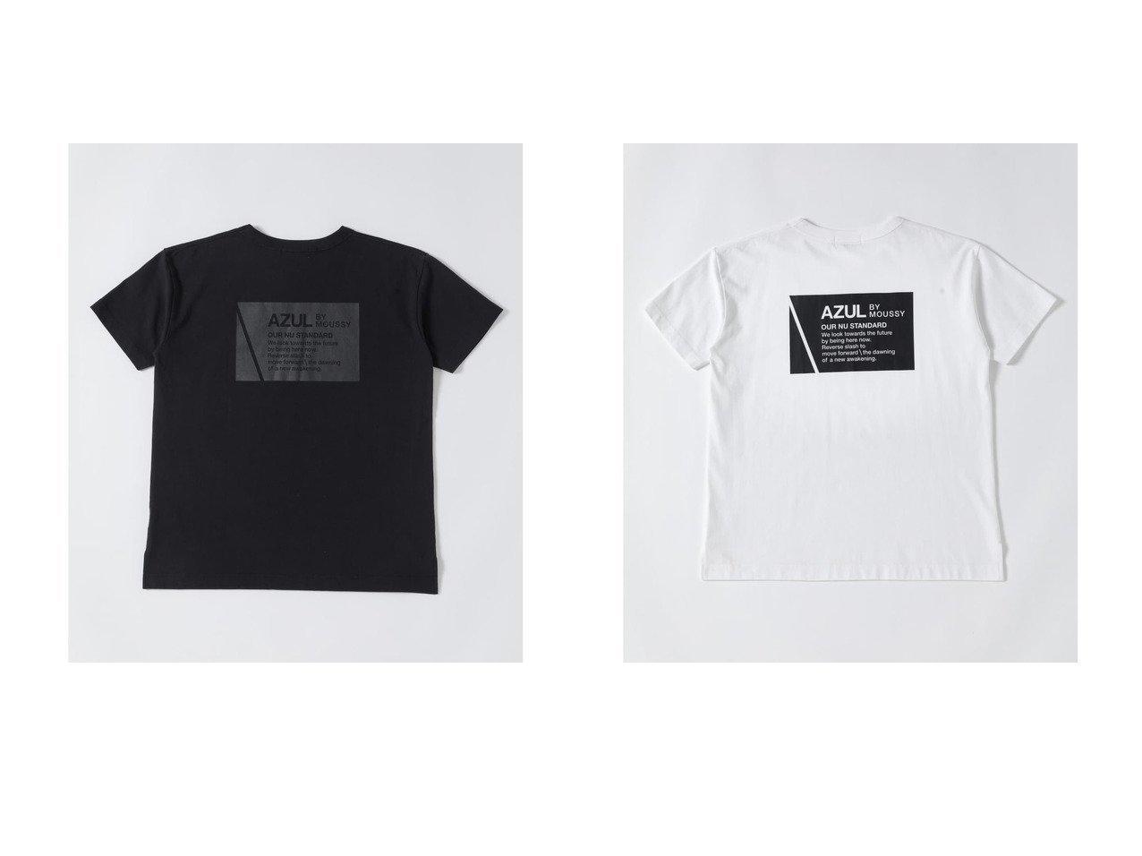 【AZUL by moussy/アズール バイ マウジー】のSHELTECH BACK PRINT TEE 【プチプライス・低価格】おすすめ!人気、トレンド・レディースファッションの通販 おすすめで人気の流行・トレンド、ファッションの通販商品 インテリア・家具・メンズファッション・キッズファッション・レディースファッション・服の通販 founy(ファニー) https://founy.com/ ファッション Fashion レディースファッション WOMEN 2021年 2021 2021春夏・S/S SS/Spring/Summer/2021 S/S・春夏 SS・Spring/Summer バランス プリント 夏 Summer 春 Spring 軽量  ID:crp329100000054149