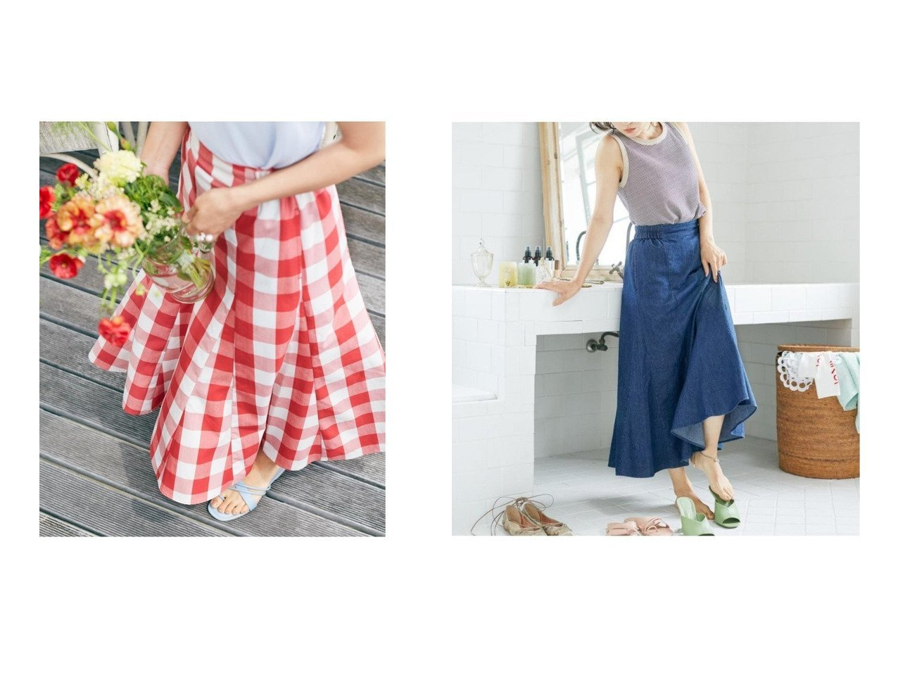 【studio CLIP/スタディオ クリップ】の《新色入荷/NEXTWEEKENDコラボ》2021物語のスカート 【プチプライス・低価格】おすすめ!人気、トレンド・レディースファッションの通販 おすすめで人気の流行・トレンド、ファッションの通販商品 インテリア・家具・メンズファッション・キッズファッション・レディースファッション・服の通販 founy(ファニー) https://founy.com/ ファッション Fashion レディースファッション WOMEN スカート Skirt Aライン/フレアスカート Flared A-Line Skirts 春 Spring 秋 Autumn/Fall ギャザー コラボ スペシャル デニム フレア ポケット 2020年 2020 2021年 2021 2020-2021秋冬・A/W AW・Autumn/Winter・FW・Fall-Winter/2020-2021 2021春夏・S/S SS/Spring/Summer/2021 NEW・新作・新着・新入荷 New Arrivals 夏 Summer  ID:crp329100000054154