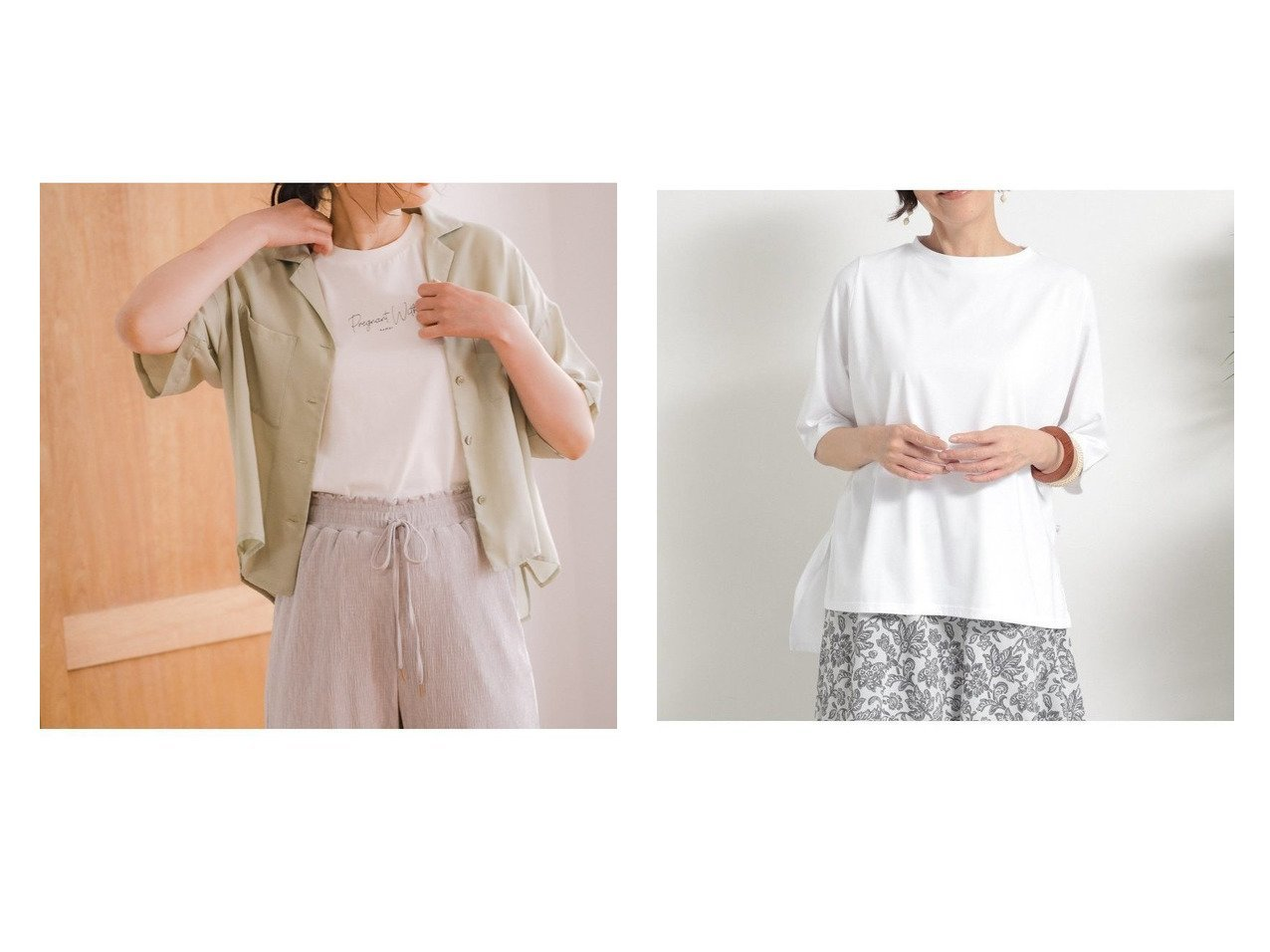 【studio CLIP/スタディオ クリップ】のキュウスイソッカンレイカンTSH&【GLOBAL WORK/グローバルワーク】のケアラククロップドシャツSS 【プチプライス・低価格】おすすめ!人気、トレンド・レディースファッションの通販 おすすめで人気の流行・トレンド、ファッションの通販商品 インテリア・家具・メンズファッション・キッズファッション・レディースファッション・服の通販 founy(ファニー) https://founy.com/ ファッション Fashion レディースファッション WOMEN トップス・カットソー Tops/Tshirt シャツ/ブラウス Shirts/Blouses ロング / Tシャツ T-Shirts カットソー Cut and Sewn カットソー シンプル スリット 吸水 夏 Summer S/S・春夏 SS・Spring/Summer おすすめ Recommend 半袖  ID:crp329100000054156