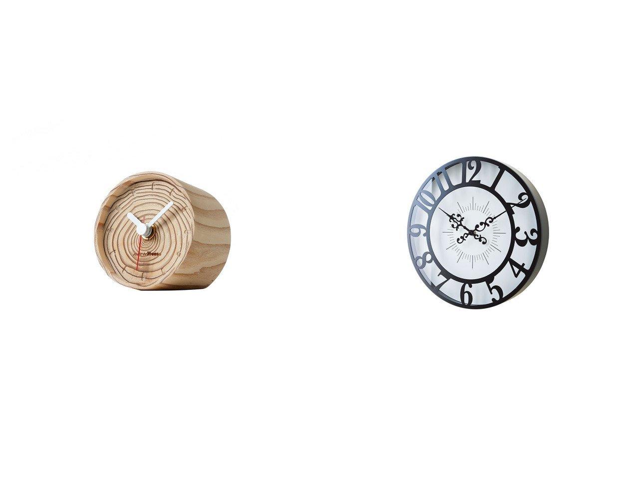 【FLYMEe Blanc/フライミー ブラン】のウォールクロック #104958&【more trees design/モア トゥリーズ デザイン】の年輪の置時計 【時計 お家時間 FURNITURE】おすすめ!人気、インテリア雑貨・家具の通販 おすすめで人気の流行・トレンド、ファッションの通販商品 インテリア・家具・メンズファッション・キッズファッション・レディースファッション・服の通販 founy(ファニー) https://founy.com/ 時計  ID:crp329100000054319