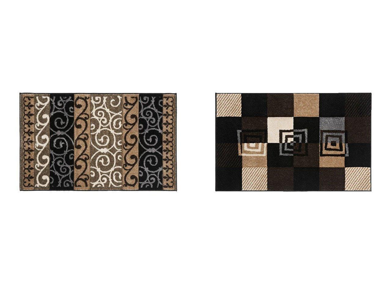 【FLYMEe Parlor/フライミーパーラー】のラグマット e20013&ラグマット e20011 【ラグ・絨毯・カーペット お家時間 FURNITURE】おすすめ!人気、インテリア雑貨・家具の通販 おすすめで人気の流行・トレンド、ファッションの通販商品 インテリア・家具・メンズファッション・キッズファッション・レディースファッション・服の通販 founy(ファニー) https://founy.com/ 送料無料 Free Shipping エレガント チェック ブロック |ID:crp329100000054342
