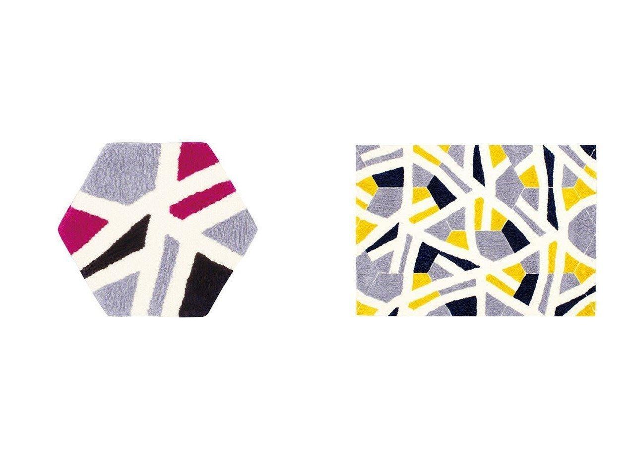 【FLYMEe vert/フライミー ヴェール】のラグ 70 × 80cm六角形 f5982&ラグ 140 × 200cm f5944 【ラグ・絨毯・カーペット お家時間 FURNITURE】おすすめ!人気、インテリア雑貨・家具の通販 おすすめで人気の流行・トレンド、ファッションの通販商品 インテリア・家具・メンズファッション・キッズファッション・レディースファッション・服の通販 founy(ファニー) https://founy.com/ イエロー |ID:crp329100000054344