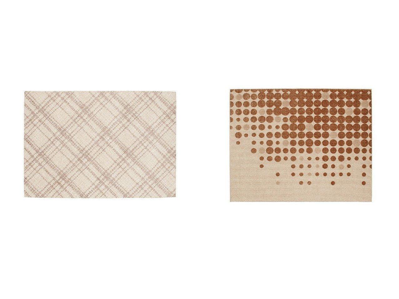 【FLYMEe vert/フライミー ヴェール】のラグ #103856&ラグ #102289 【ラグ・絨毯・カーペット お家時間 FURNITURE】おすすめ!人気、インテリア雑貨・家具の通販 おすすめで人気の流行・トレンド、ファッションの通販商品 インテリア・家具・メンズファッション・キッズファッション・レディースファッション・服の通販 founy(ファニー) https://founy.com/ 送料無料 Free Shipping チェック ドット |ID:crp329100000054363