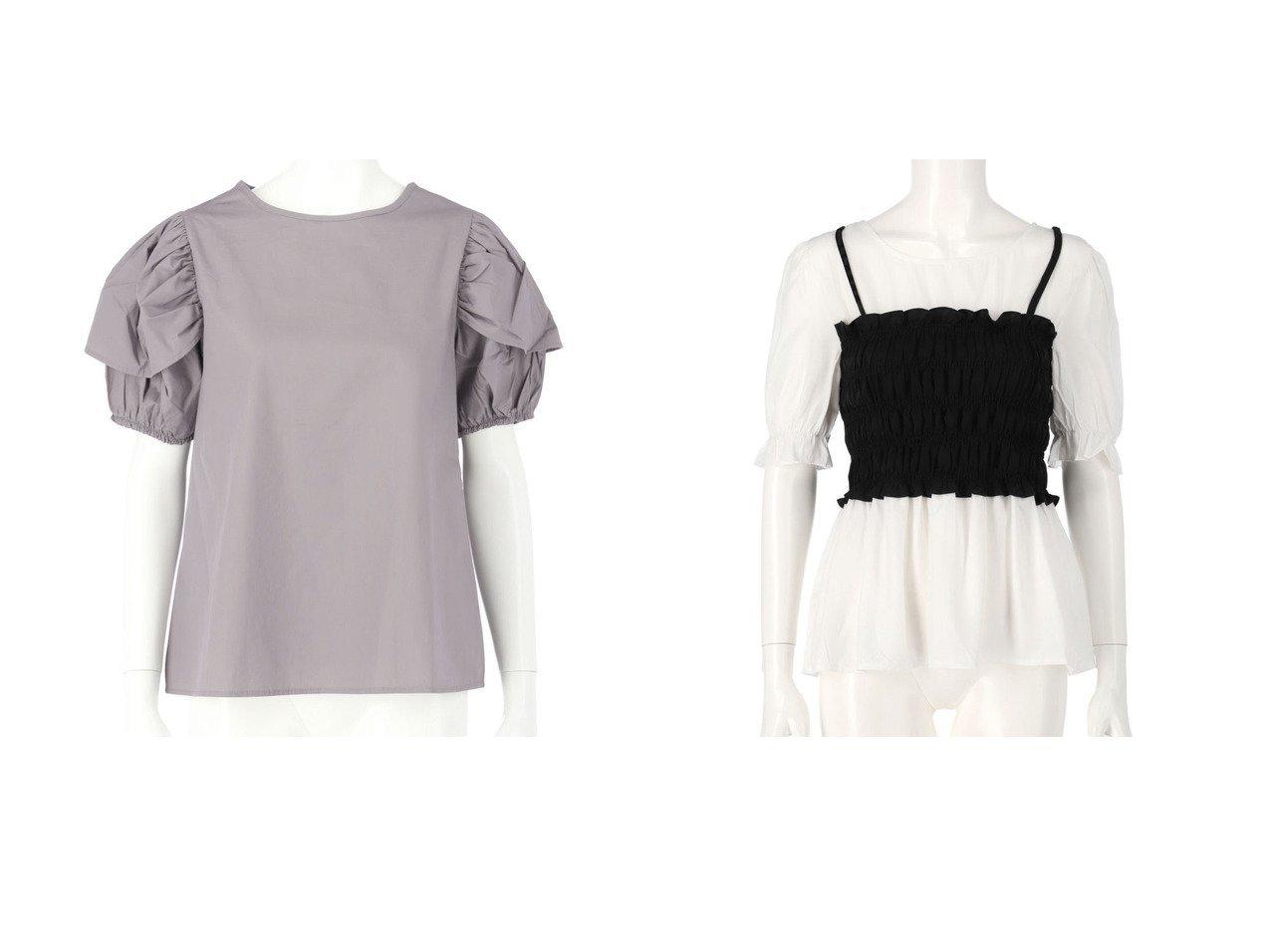 【CHILLE/チル】のCHILLE シャーリングビスチェドッキングブラウス&CHILLE パフスリーブボリュームブラウス おすすめ!人気トレンド・レディースファッション通販 おすすめで人気の流行・トレンド、ファッションの通販商品 インテリア・家具・メンズファッション・キッズファッション・レディースファッション・服の通販 founy(ファニー) https://founy.com/ ファッション Fashion レディースファッション WOMEN トップス・カットソー Tops/Tshirt シャツ/ブラウス Shirts/Blouses ビスチェ Bustier 春 Spring ストレッチ デニム フェミニン フレア 無地 ループ 2021年 2021 S/S・春夏 SS・Spring/Summer 2021春夏・S/S SS/Spring/Summer/2021 夏 Summer |ID:crp329100000054545