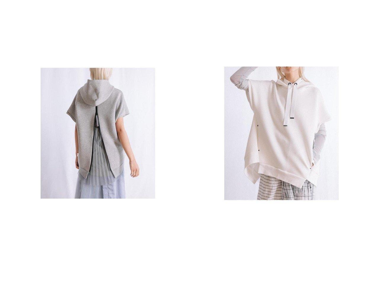【AULA AILA/アウラアイラ】のSLEEVELESS BACK PLEATED HOODIE おすすめ!人気トレンド・レディースファッション通販 おすすめで人気の流行・トレンド、ファッションの通販商品 インテリア・家具・メンズファッション・キッズファッション・レディースファッション・服の通販 founy(ファニー) https://founy.com/ ファッション Fashion レディースファッション WOMEN トップス・カットソー Tops/Tshirt 2021年 2021 2021春夏・S/S SS/Spring/Summer/2021 S/S・春夏 SS・Spring/Summer おすすめ Recommend アイレット インナー ジップ ジャージー センター タフタ トレンド プリント ベスト 夏 Summer 春 Spring 長袖  ID:crp329100000054569