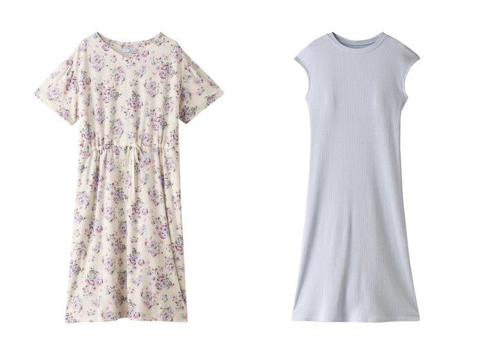 【KID BLUE/キッドブルー】のパイルローズバローワンピース&21プレーンリブワンピース 【ワンピース・ドレス】おすすめ!人気、トレンド・レディースファッションの通販 おすすめ人気トレンドファッション通販アイテム 人気、トレンドファッション・服の通販 founy(ファニー) ファッション Fashion レディースファッション WOMEN ワンピース Dress 2021年 2021 2021-2022秋冬・A/W AW・Autumn/Winter・FW・Fall-Winter・2021-2022 A/W・秋冬 AW・Autumn/Winter・FW・Fall-Winter フロント プリント リラックス ローズ 半袖 夏 Summer ストレッチ ノースリーブ |ID:crp329100000054602