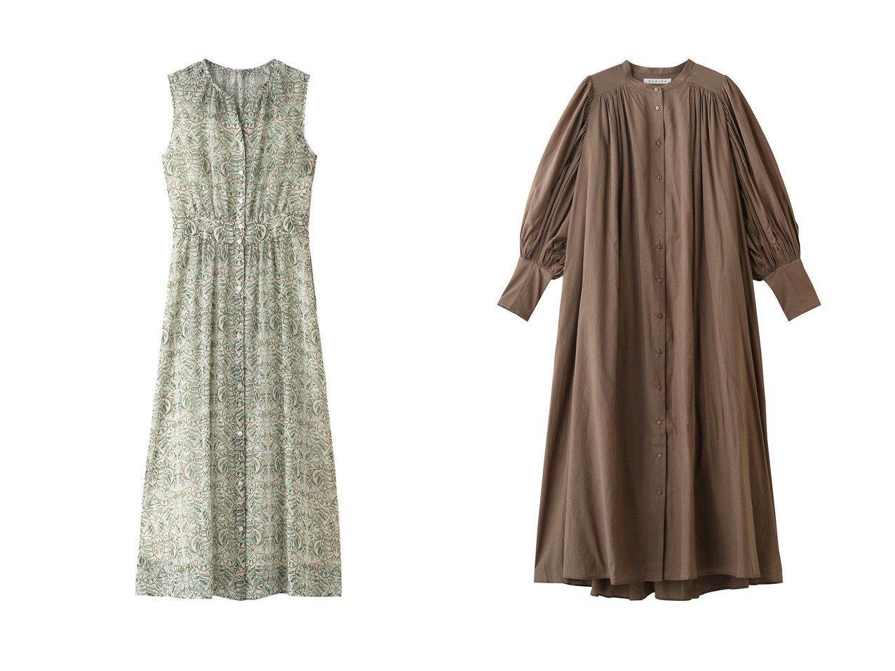 【ANAYI/アナイ】のシフォンリーフPTノースリーブワンピース&【MARIHA/マリハ】の鳥の歌のドレス(vs) 【ワンピース・ドレス】おすすめ!人気、トレンド・レディースファッションの通販 おすすめで人気の流行・トレンド、ファッションの通販商品 インテリア・家具・メンズファッション・キッズファッション・レディースファッション・服の通販 founy(ファニー) https://founy.com/ ファッション Fashion レディースファッション WOMEN ワンピース Dress ドレス Party Dresses 2021年 2021 2021-2022秋冬・A/W AW・Autumn/Winter・FW・Fall-Winter・2021-2022 A/W・秋冬 AW・Autumn/Winter・FW・Fall-Winter スリーブ ドレス フェミニン エアリー ギャザー シフォン ノースリーブ プリント リーフ  ID:crp329100000054603