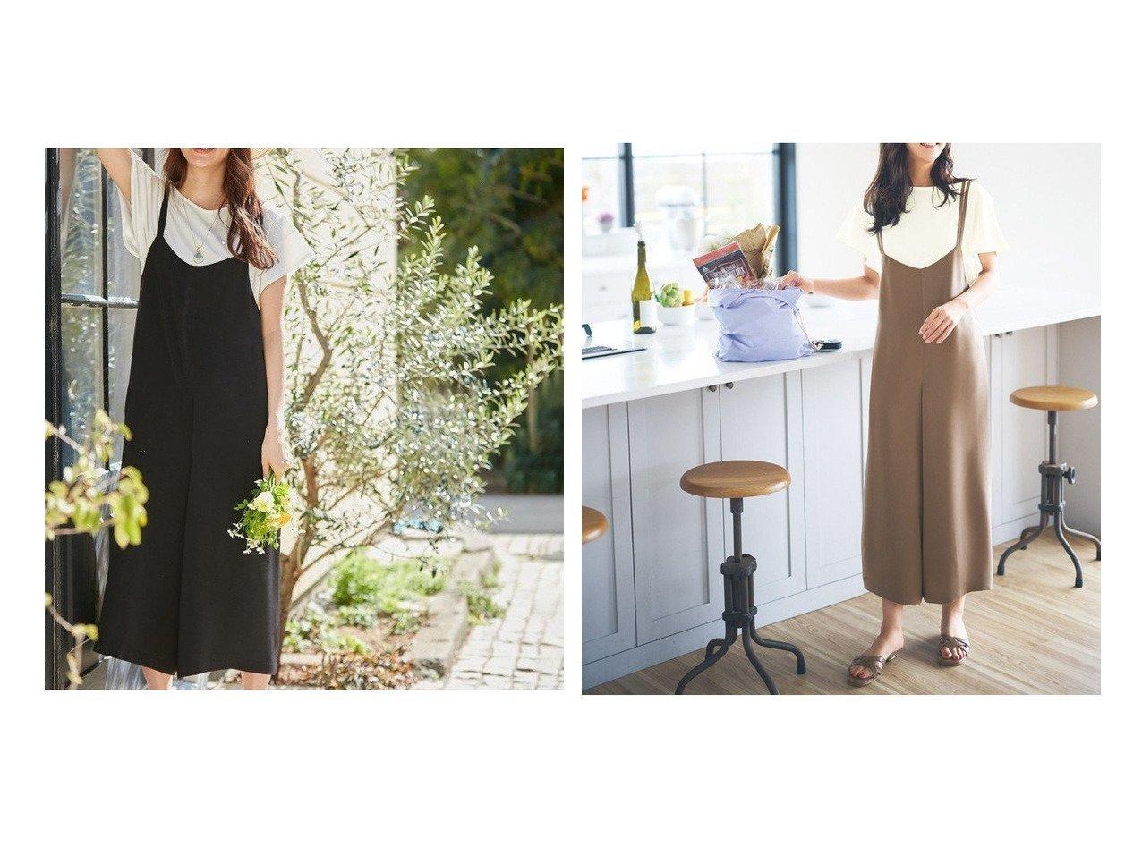 【any SiS/エニィ スィス】の【2SET】リラクシーサロペ セット 【ワンピース・ドレス】おすすめ!人気、トレンド・レディースファッションの通販 おすすめで人気の流行・トレンド、ファッションの通販商品 インテリア・家具・メンズファッション・キッズファッション・レディースファッション・服の通販 founy(ファニー) https://founy.com/ ファッション Fashion レディースファッション WOMEN インナー サロペット フィット フェミニン ポケット ルーズ 楽ちん 再入荷 Restock/Back in Stock/Re Arrival プチプライス・低価格 Affordable  ID:crp329100000054608