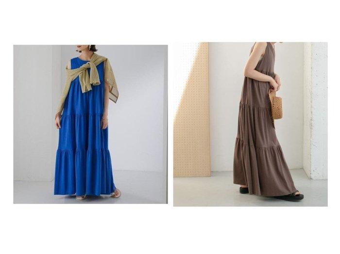 【KBF / URBAN RESEARCH/ケービーエフ】の【WEB限定】ティアードマキシカットワンピース 【ワンピース・ドレス】おすすめ!人気、トレンド・レディースファッションの通販 おすすめ人気トレンドファッション通販アイテム 人気、トレンドファッション・服の通販 founy(ファニー) ファッション Fashion レディースファッション WOMEN ワンピース Dress インナー カットソー カーディガン タンク ダウン ティアードワンピース ビッグ ポケット マキシ リラックス おすすめ Recommend |ID:crp329100000054611