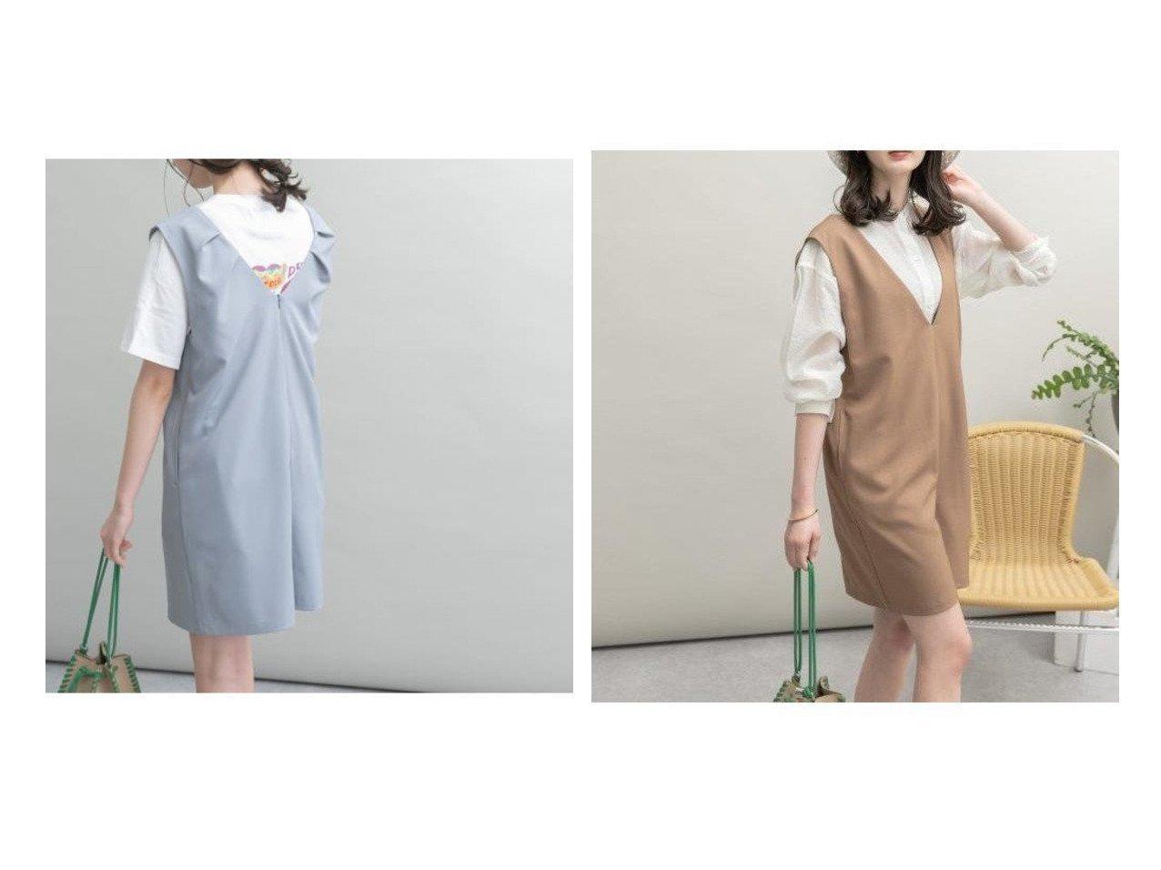 【URBAN RESEARCH/アーバンリサーチ】のUR Lab. Vネックショートサロペット 【ワンピース・ドレス】おすすめ!人気、トレンド・レディースファッションの通販 おすすめで人気の流行・トレンド、ファッションの通販商品 インテリア・家具・メンズファッション・キッズファッション・レディースファッション・服の通販 founy(ファニー) https://founy.com/ ファッション Fashion レディースファッション WOMEN トップス・カットソー Tops/Tshirt Vネック V-Neck ワンピース Dress サロペット Salopette インナー カーディガン サロペット ショート シンプル タンク ポケット 無地 リゾート リラックス NEW・新作・新着・新入荷 New Arrivals おすすめ Recommend 夏 Summer  ID:crp329100000054614