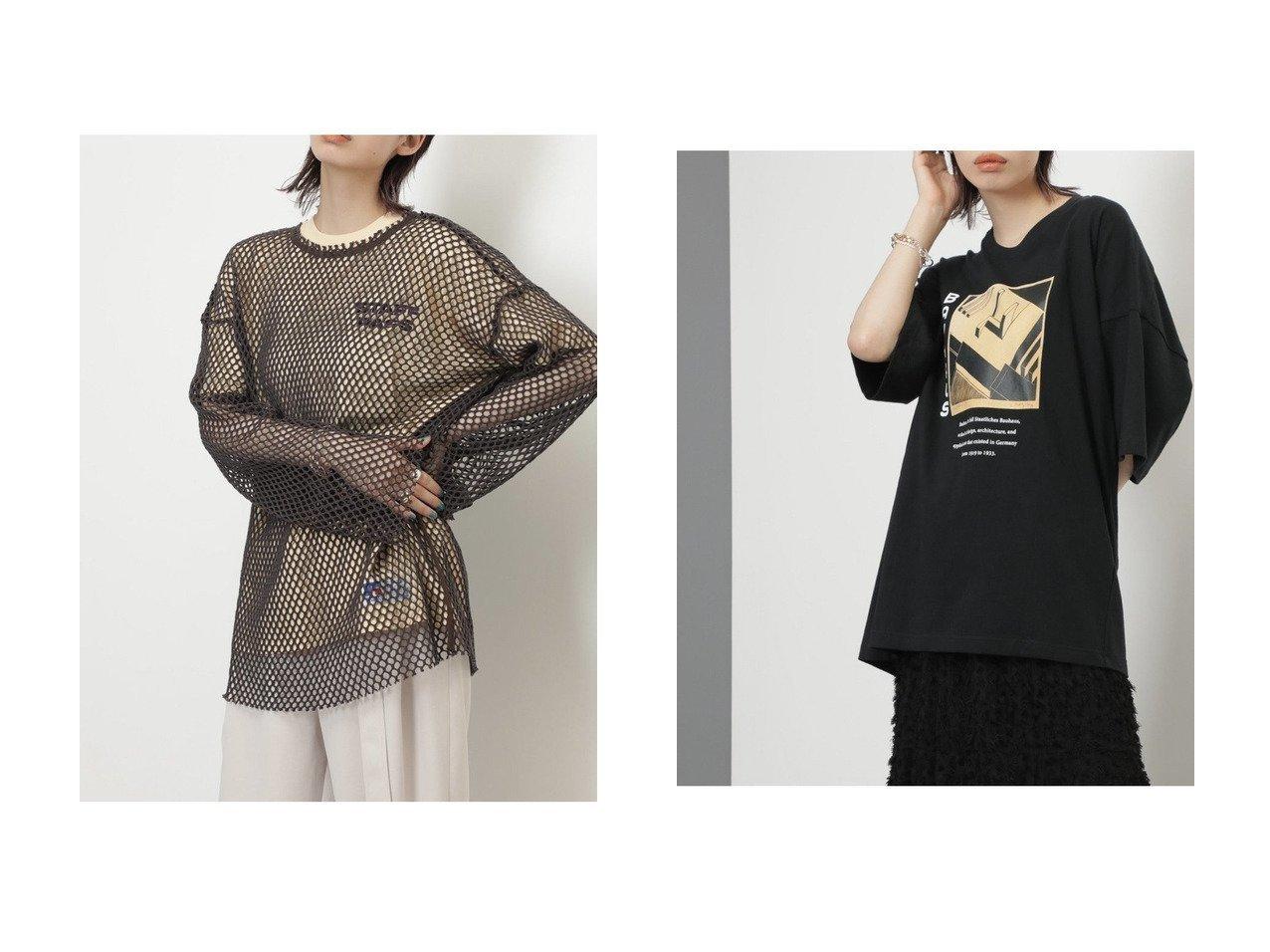 【ROSE BUD/ローズバッド】のメッシュプルオーバー&BAUHAUSアートプリントTシャツ 【トップス・カットソー】おすすめ!人気、トレンド・レディースファッションの通販 おすすめで人気の流行・トレンド、ファッションの通販商品 インテリア・家具・メンズファッション・キッズファッション・レディースファッション・服の通販 founy(ファニー) https://founy.com/ ファッション Fashion レディースファッション WOMEN トップス・カットソー Tops/Tshirt プルオーバー Pullover シャツ/ブラウス Shirts/Blouses ロング / Tシャツ T-Shirts 2021年 2021 2021-2022秋冬・A/W AW・Autumn/Winter・FW・Fall-Winter・2021-2022 A/W・秋冬 AW・Autumn/Winter・FW・Fall-Winter カットソー メッシュ おすすめ Recommend プリント ボトム  ID:crp329100000054631