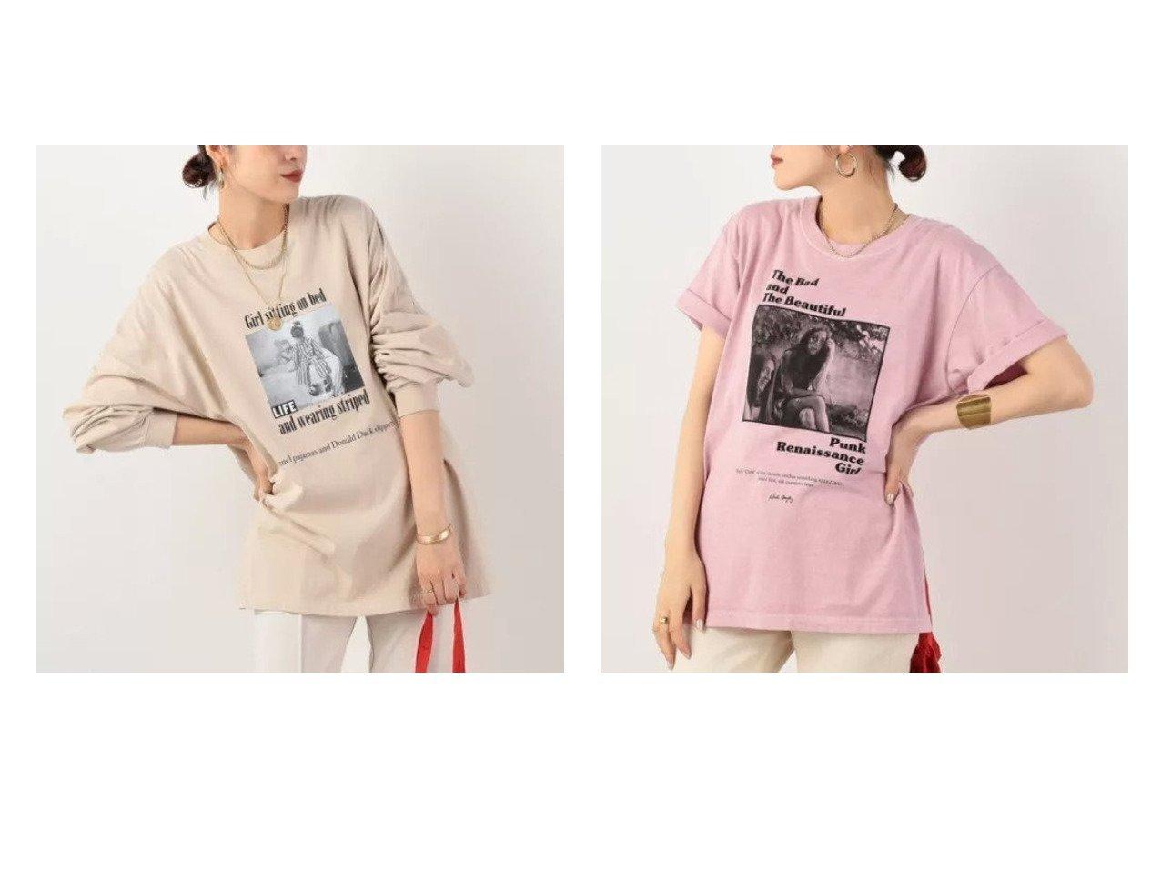 【NOLLEY'S/ノーリーズ】の【グッドロックスピード】PHOTO BIG ロングスリーブTシャツ&【グッドロックスピード】Roberta Bayley プリントTee 【トップス・カットソー】おすすめ!人気、トレンド・レディースファッションの通販 おすすめで人気の流行・トレンド、ファッションの通販商品 インテリア・家具・メンズファッション・キッズファッション・レディースファッション・服の通販 founy(ファニー) https://founy.com/ ファッション Fashion レディースファッション WOMEN トップス・カットソー Tops/Tshirt シャツ/ブラウス Shirts/Blouses ロング / Tシャツ T-Shirts カットソー Cut and Sewn ヴィンテージ カットソー スリーブ デニム トレンド 長袖 ビッグ フレア プリント ロング おすすめ Recommend ボトム 半袖 |ID:crp329100000054646