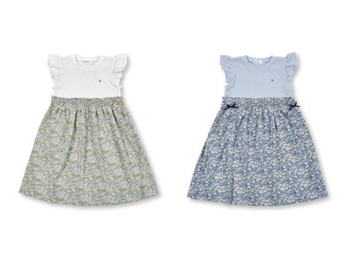 【SLAP SLIP / KIDS/スラップスリップ】のワッフル切り替え 袖フリル ワンピース(80~130cm) 【KIDS】子供服のおすすめ!人気トレンド・キッズファッションの通販 おすすめ人気トレンドファッション通販アイテム 人気、トレンドファッション・服の通販 founy(ファニー)  ファッション Fashion キッズファッション KIDS ワンピース Dress/Kids シャーリング フリル フレア フレンチ リボン ワッフル  ID:crp329100000054816
