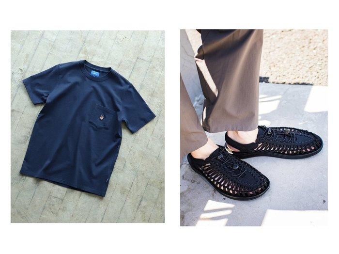 【KEEN / MEN/キーン】のUNEEK&【BEAMS / MEN/ビームス】のワンポイント ポケット Tシャツ 【MEN】おすすめ!人気トレンド・男性、メンズファッションの通販 おすすめ人気トレンドファッション通販アイテム インテリア・キッズ・メンズ・レディースファッション・服の通販 founy(ファニー) https://founy.com/ ファッション Fashion メンズファッション MEN トップス・カットソー Tops/Tshirt/Men シャツ Shirts シューズ・靴 Shoes/Men サンダル Sandals カットソー シンプル トレンド フィット ベーシック ポケット ルーズ レギュラー ワンポイント 再入荷 Restock/Back in Stock/Re Arrival 半袖 定番 Standard クッション コレクション 軽量 サンダル シューズ スニーカー ミュール ラウンド |ID:crp329100000054964