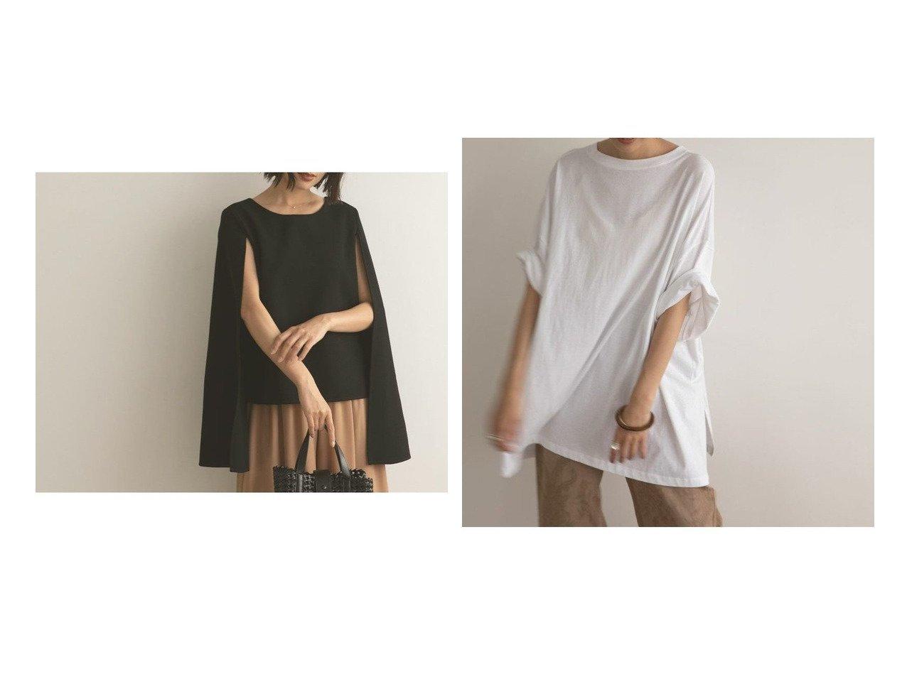 【marjour/マージュール】のハーフスリーブオーバーTEE HALF SLEEVE OVER TEE&ケープトップス CAPE TOPS おすすめ!人気、トレンド・レディースファッションの通販  おすすめで人気の流行・トレンド、ファッションの通販商品 インテリア・家具・メンズファッション・キッズファッション・レディースファッション・服の通販 founy(ファニー) https://founy.com/ ファッション Fashion レディースファッション WOMEN トップス・カットソー Tops/Tshirt オケージョン 春 Spring 秋 Autumn/Fall カーディガン サンダル シューズ スニーカー デニム トレンド 時計 バランス バングル フィット ボトム ワイド アンクル 人気 ハーフ ベスト ベーシック 半袖 おすすめ Recommend 夏 Summer  ID:crp329100000054998
