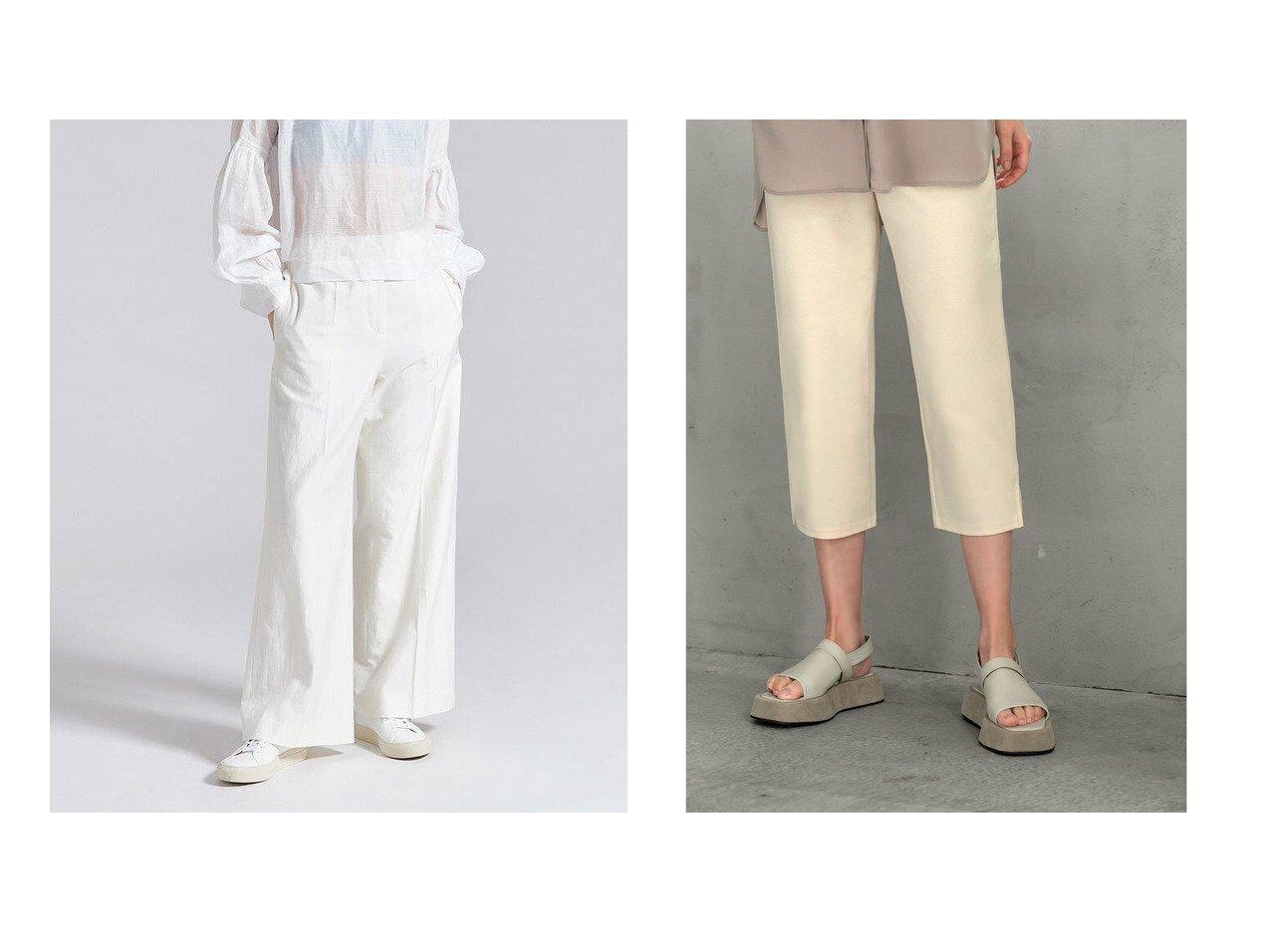 【STYLE DELI/スタイルデリ】の80cm丈クロップドカットソーパンツ&【DES PRES / TOMORROWLAND/デプレ】のコットンシルクリネン ストレートパンツ 【パンツ】おすすめ!人気、トレンド・レディースファッションの通販 おすすめで人気の流行・トレンド、ファッションの通販商品 インテリア・家具・メンズファッション・キッズファッション・レディースファッション・服の通販 founy(ファニー) https://founy.com/ ファッション Fashion レディースファッション WOMEN パンツ Pants NEW・新作・新着・新入荷 New Arrivals カットソー サンダル スキニー スニーカー チュニック バランス レギンス ロング 夏 Summer 2021年 2021 2021春夏・S/S SS/Spring/Summer/2021 S/S・春夏 SS・Spring/Summer ストレート タンブラー リラックス ループ 再入荷 Restock/Back in Stock/Re Arrival |ID:crp329100000055005