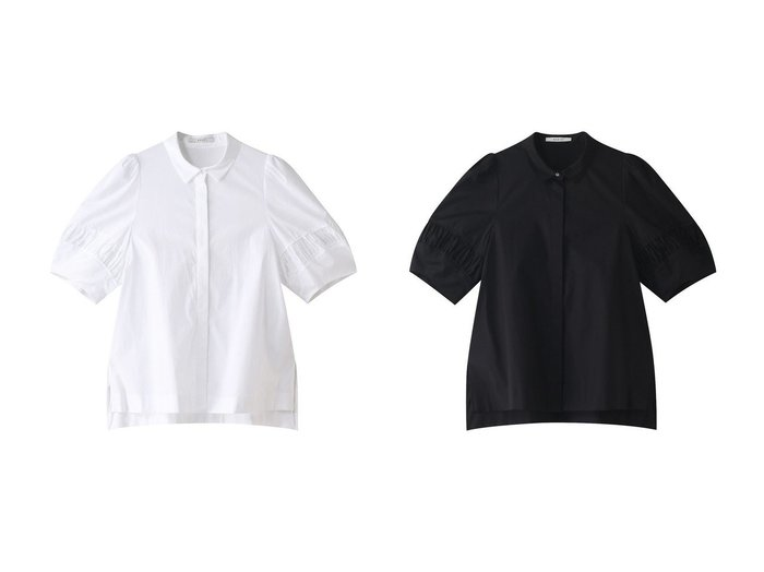 【ANAYI/アナイ】のストレッチブロードブラウス 【トップス・カットソー】おすすめ!人気、トレンド・レディースファッションの通販 おすすめ人気トレンドファッション通販アイテム 人気、トレンドファッション・服の通販 founy(ファニー) ファッション Fashion レディースファッション WOMEN トップス・カットソー Tops/Tshirt シャツ/ブラウス Shirts/Blouses 2021年 2021 2021-2022秋冬・A/W AW・Autumn/Winter・FW・Fall-Winter・2021-2022 A/W・秋冬 AW・Autumn/Winter・FW・Fall-Winter ギャザー ストレッチ スリット スリーブ 半袖 |ID:crp329100000055264