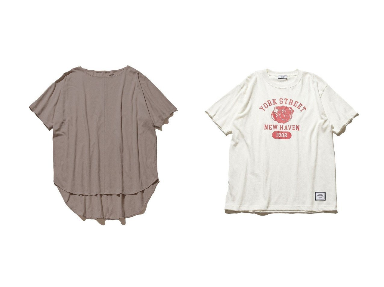 【J.PRESS YORK STREET/ジェイプレスヨークストリート】の【UNISEX】YORK STREET カレッジ Tシャツ&【WOMEN】1 天竺 Tシャツ 【トップス・カットソー】おすすめ!人気、トレンド・レディースファッションの通販 おすすめで人気の流行・トレンド、ファッションの通販商品 インテリア・家具・メンズファッション・キッズファッション・レディースファッション・服の通販 founy(ファニー) https://founy.com/ ファッション Fashion レディースファッション WOMEN トップス・カットソー Tops/Tshirt シャツ/ブラウス Shirts/Blouses ロング / Tシャツ T-Shirts カットソー Cut and Sewn 送料無料 Free Shipping インナー カットソー シンプル 夏 Summer UNISEX プリント 再入荷 Restock/Back in Stock/Re Arrival |ID:crp329100000055312