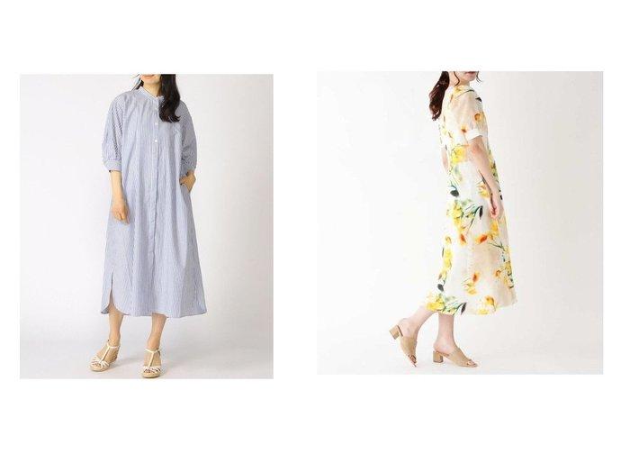【ITS' DEMO/イッツデモ】のplantica ワンピース&【GLOBAL WORK/グローバルワーク】のケアラクリネンボザムOP 【プチプライス・低価格】おすすめ!人気、トレンド・レディースファッションの通販 おすすめ人気トレンドファッション通販アイテム 人気、トレンドファッション・服の通販 founy(ファニー) ファッション Fashion レディースファッション WOMEN ワンピース Dress マキシワンピース Maxi Dress グラデーション シェイプ デコルテ フラワー フレア プリント マキシ ロング ワイド バランス フロント 長袖 |ID:crp329100000055335