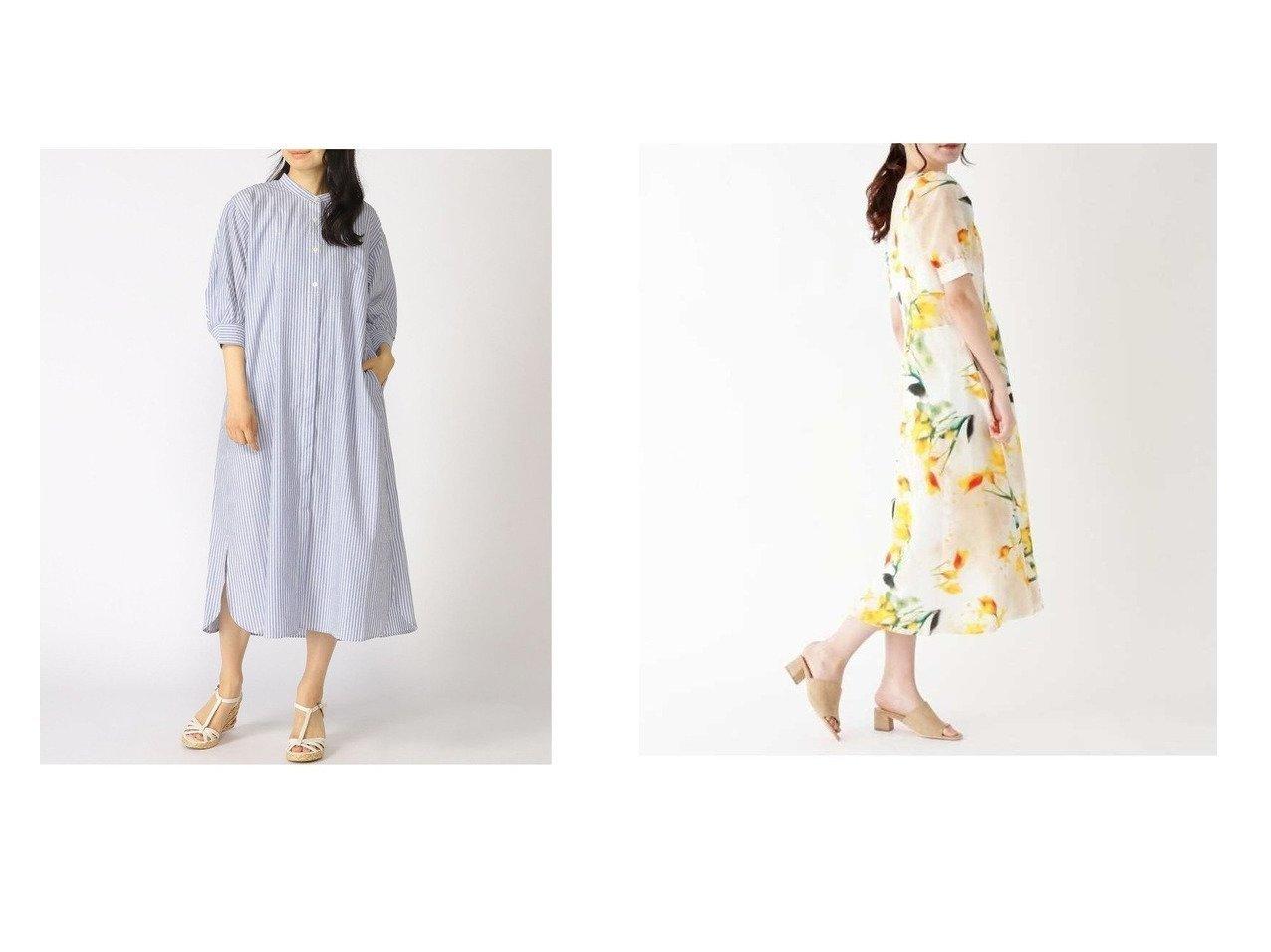 【ITS' DEMO/イッツデモ】のplantica ワンピース&【GLOBAL WORK/グローバルワーク】のケアラクリネンボザムOP 【プチプライス・低価格】おすすめ!人気、トレンド・レディースファッションの通販 おすすめで人気の流行・トレンド、ファッションの通販商品 インテリア・家具・メンズファッション・キッズファッション・レディースファッション・服の通販 founy(ファニー) https://founy.com/ ファッション Fashion レディースファッション WOMEN ワンピース Dress マキシワンピース Maxi Dress グラデーション シェイプ デコルテ フラワー フレア プリント マキシ ロング ワイド バランス フロント 長袖  ID:crp329100000055335