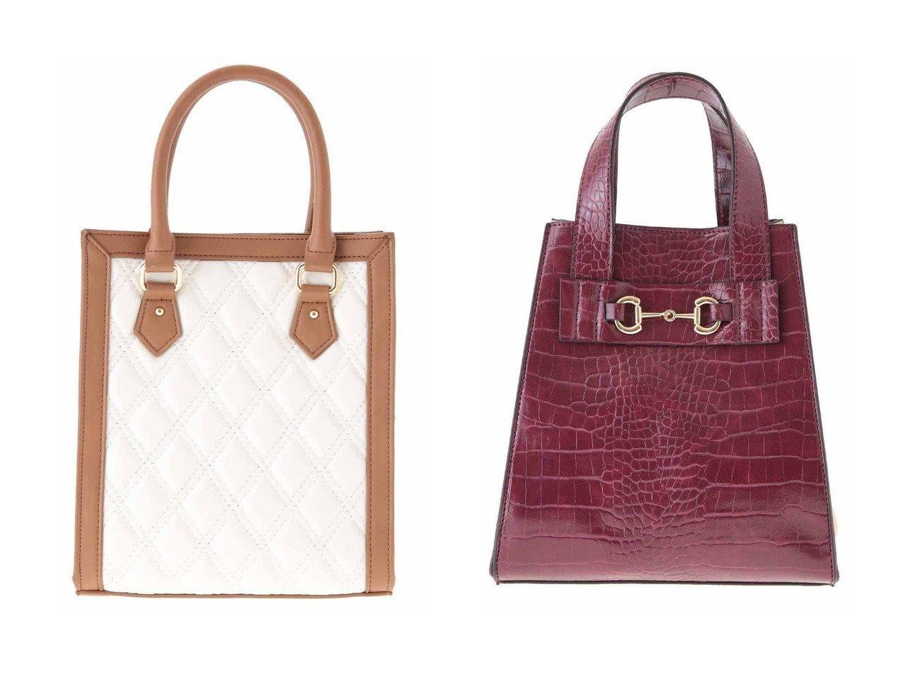 【31 Sons de mode/トランテアン ソン ドゥ モード】のキルティング2WAYトートバッグ&クロコ×スウェード配色バッグ 【バッグ・鞄】おすすめ!人気、トレンド・レディースファッションの通販 おすすめで人気の流行・トレンド、ファッションの通販商品 インテリア・家具・メンズファッション・キッズファッション・レディースファッション・服の通販 founy(ファニー) https://founy.com/ ファッション Fashion レディースファッション WOMEN バッグ Bag クロコ スウェード フェイクスウェード 台形 キルティング ショルダー トリミング トレンド 秋 Autumn/Fall  ID:crp329100000055428