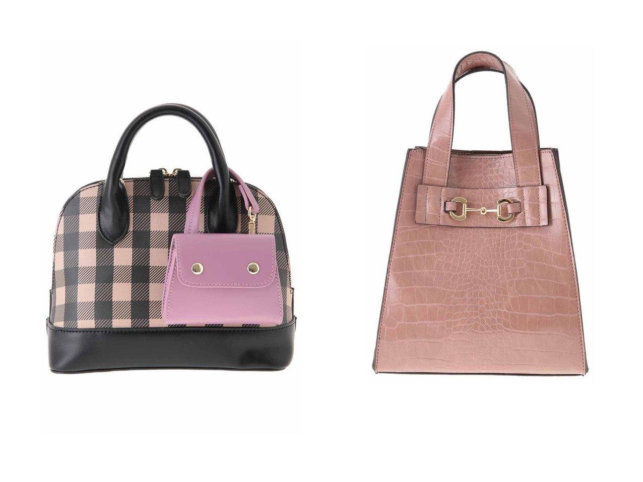 【31 Sons de mode/トランテアン ソン ドゥ モード】のクロコ×スウェード配色バッグ&チェックミニショルダー 【バッグ・鞄】おすすめ!人気、トレンド・レディースファッションの通販 おすすめで人気の流行・トレンド、ファッションの通販商品 インテリア・家具・メンズファッション・キッズファッション・レディースファッション・服の通販 founy(ファニー) https://founy.com/ ファッション Fashion レディースファッション WOMEN バッグ Bag クロコ スウェード フェイクスウェード 台形 ギンガム チェック チャーム ボストン ボストンバッグ  ID:crp329100000055429