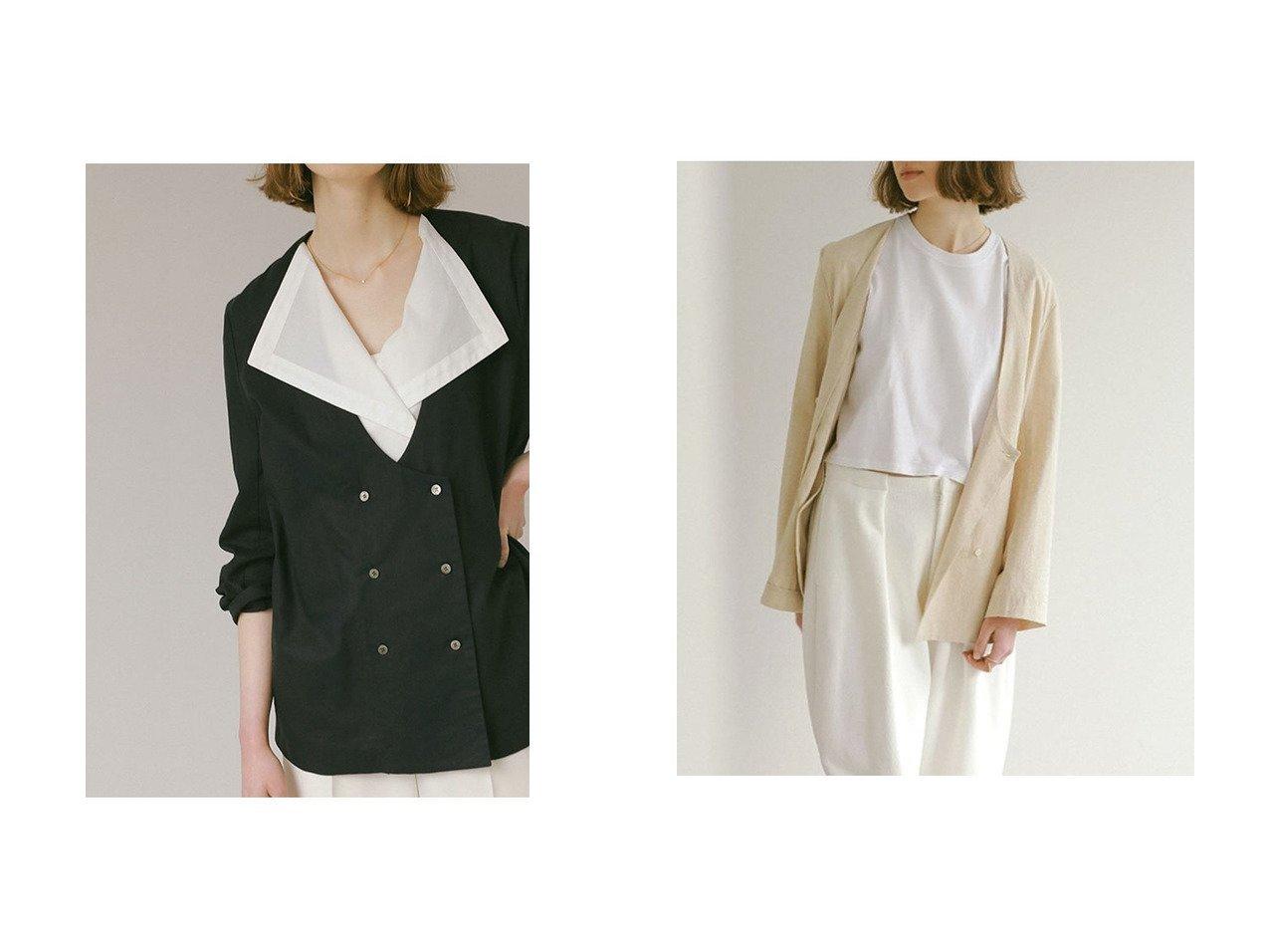 【ETRE TOKYO/エトレトウキョウ】のレイヤードライクジャケット 【アウター】おすすめ!人気、トレンド・レディースファッションの通販 おすすめで人気の流行・トレンド、ファッションの通販商品 インテリア・家具・メンズファッション・キッズファッション・レディースファッション・服の通販 founy(ファニー) https://founy.com/ ファッション Fashion レディースファッション WOMEN アウター Coat Outerwear ジャケット Jackets おすすめ Recommend ジャケット セットアップ トレンド ベスト 今季 |ID:crp329100000055434