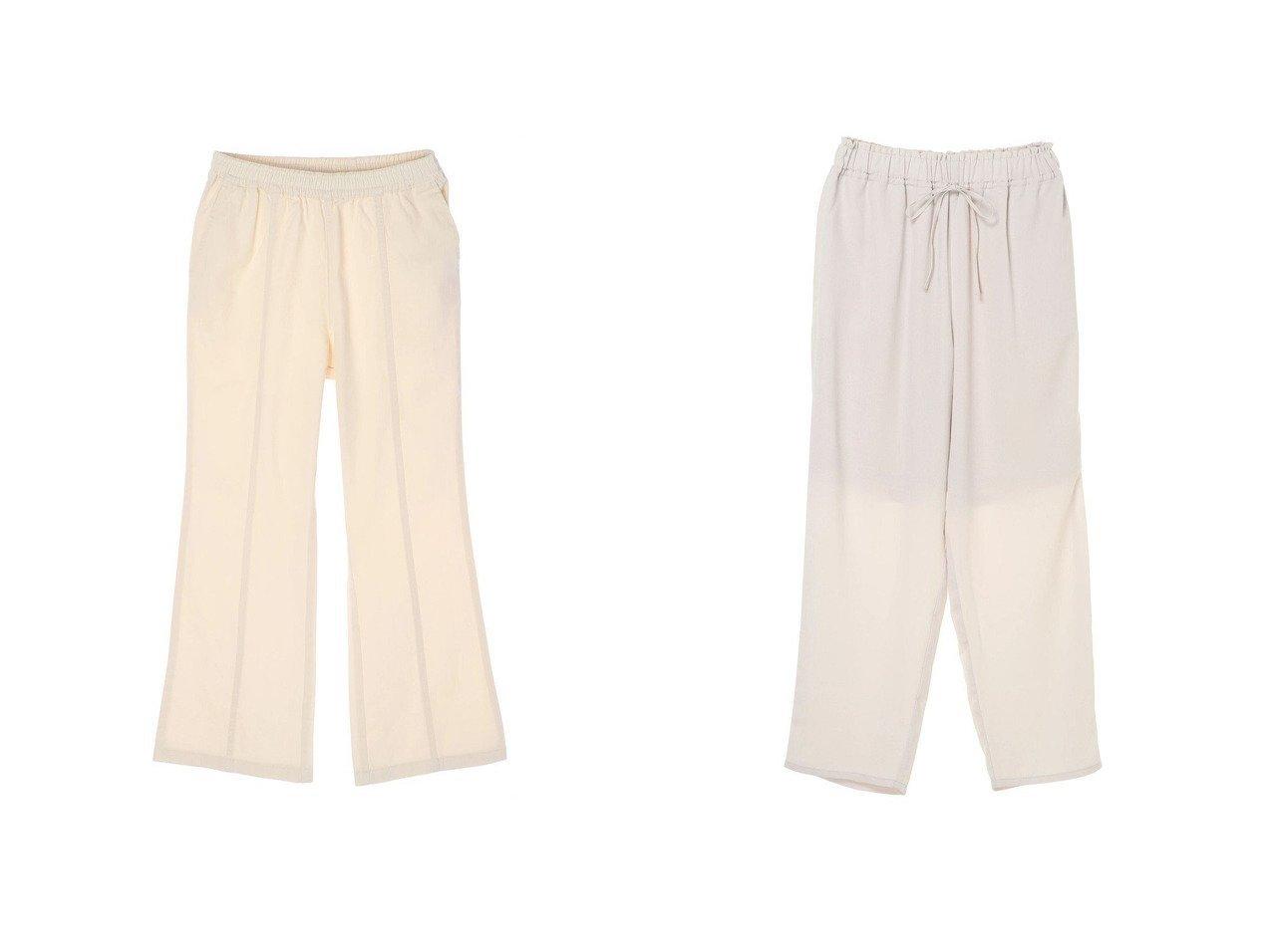【Green Parks/グリーンパークス】のホワイトストレートデニムパンツ&ウエストドロストイージーパンツ(Ecru) 【プチプライス・低価格】おすすめ!人気、トレンド・レディースファッションの通販 おすすめで人気の流行・トレンド、ファッションの通販商品 インテリア・家具・メンズファッション・キッズファッション・レディースファッション・服の通販 founy(ファニー) https://founy.com/ ファッション Fashion レディースファッション WOMEN パンツ Pants デニムパンツ Denim Pants 送料無料 Free Shipping ストレート デニム リラックス ドローストリング フォルム  ID:crp329100000055553