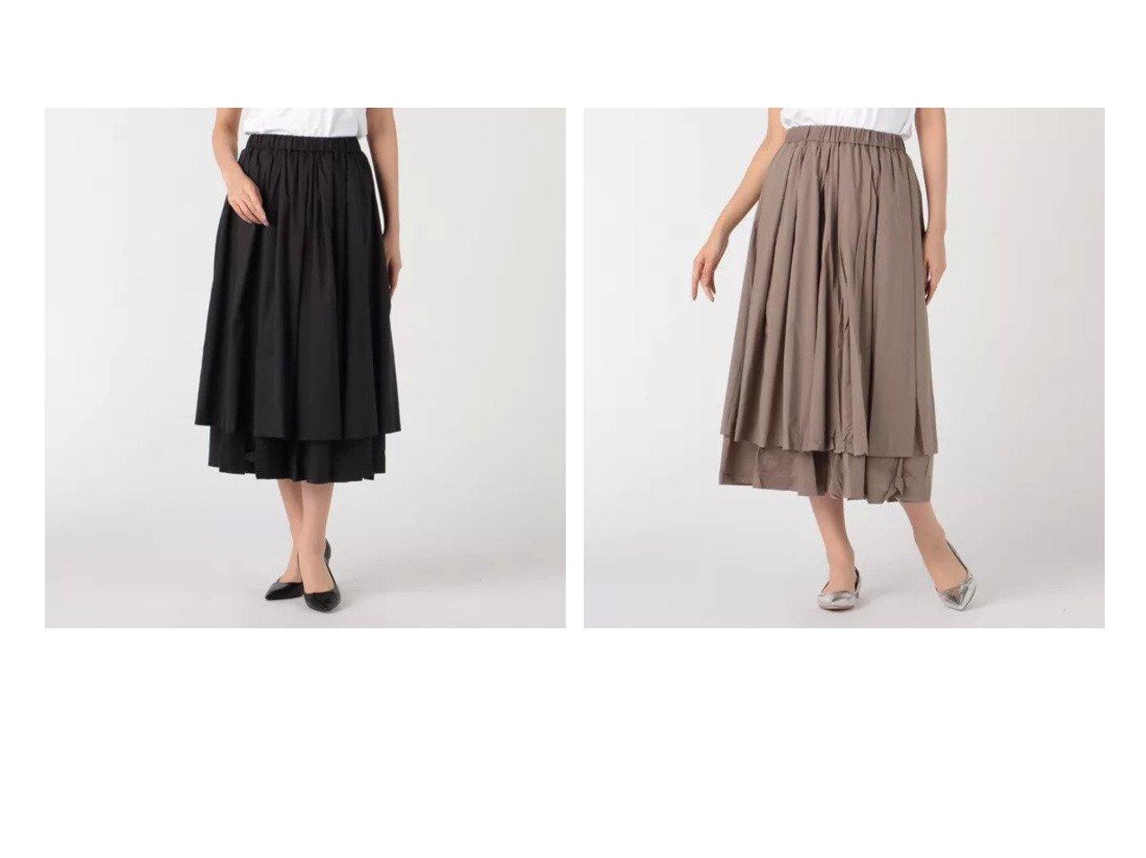 【mizuiro ind/ミズイロ インド】のdouble hem tucked スカート おすすめ!人気、トレンド・レディースファッションの通販 おすすめで人気の流行・トレンド、ファッションの通販商品 インテリア・家具・メンズファッション・キッズファッション・レディースファッション・服の通販 founy(ファニー) https://founy.com/ ファッション Fashion レディースファッション WOMEN スカート Skirt ギャザー フレア マキシ ロング 洗える  ID:crp329100000055564