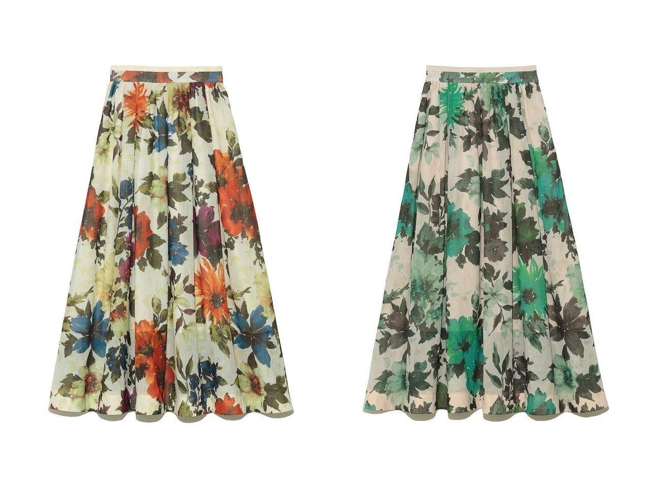 【Lily Brown/リリーブラウン】のボタニカルフラワースカート 【スカート】おすすめ!人気、トレンド・レディースファッションの通販 おすすめで人気の流行・トレンド、ファッションの通販商品 インテリア・家具・メンズファッション・キッズファッション・レディースファッション・服の通販 founy(ファニー) https://founy.com/ ファッション Fashion レディースファッション WOMEN スカート Skirt ロングスカート Long Skirt カットソー ギャザー タンク レース ロング 夏 Summer |ID:crp329100000055580